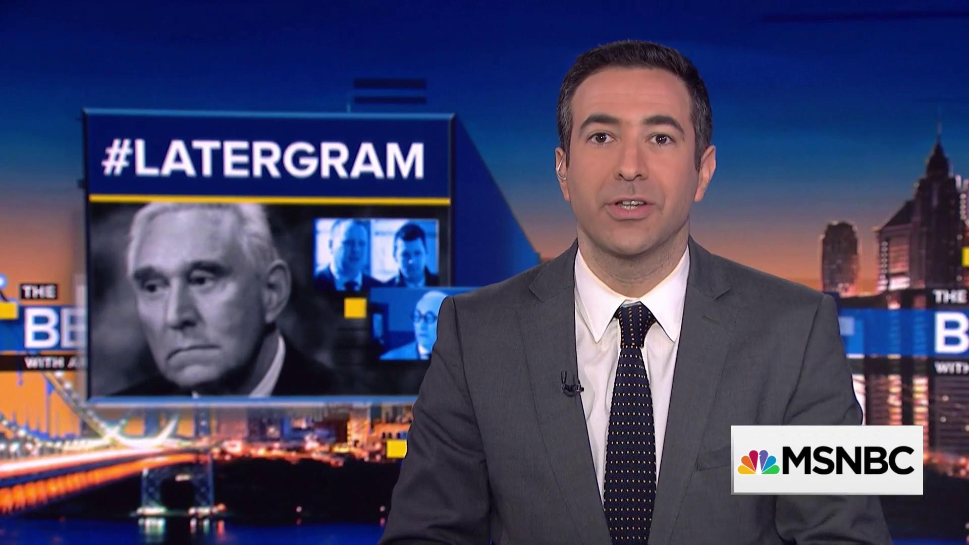 Ari Melber to Roger Stone: Answer the questions