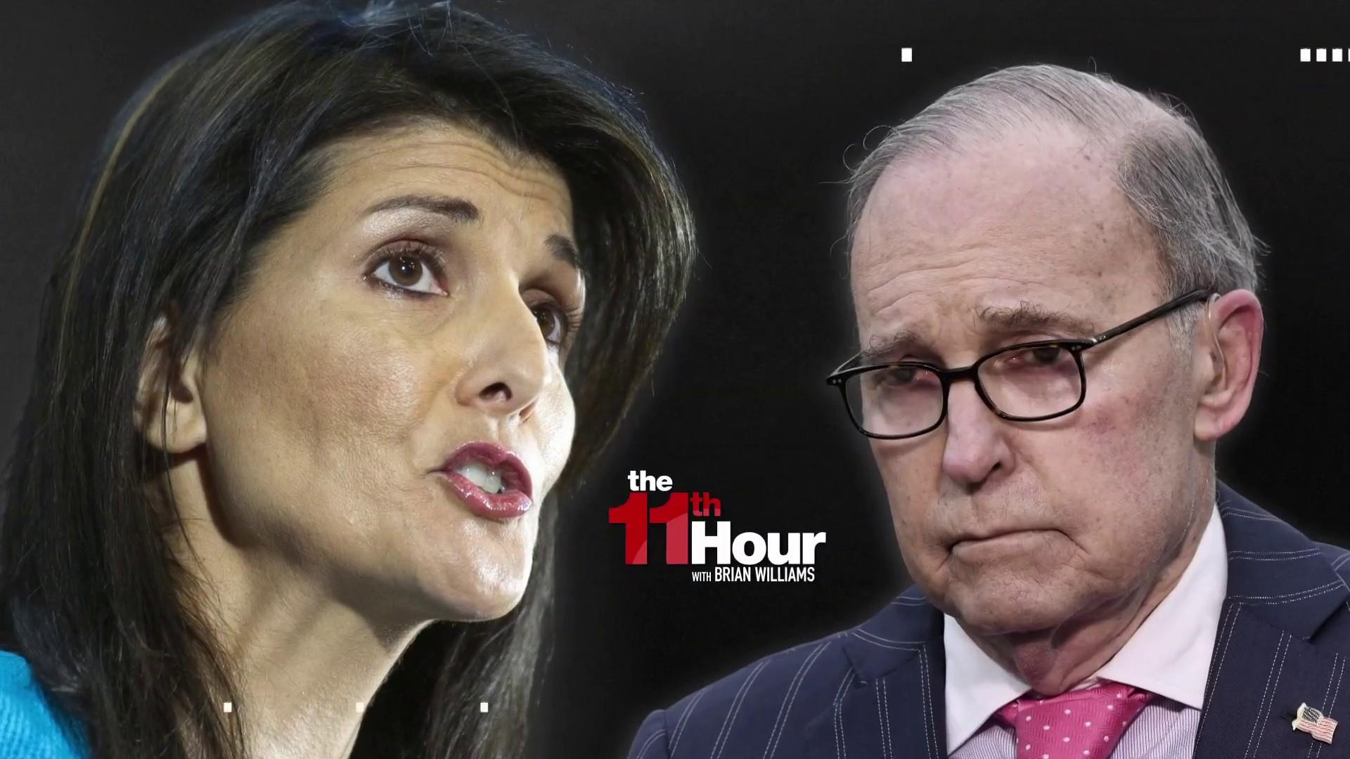 Image result for photos of nikki haley and larry kudlow