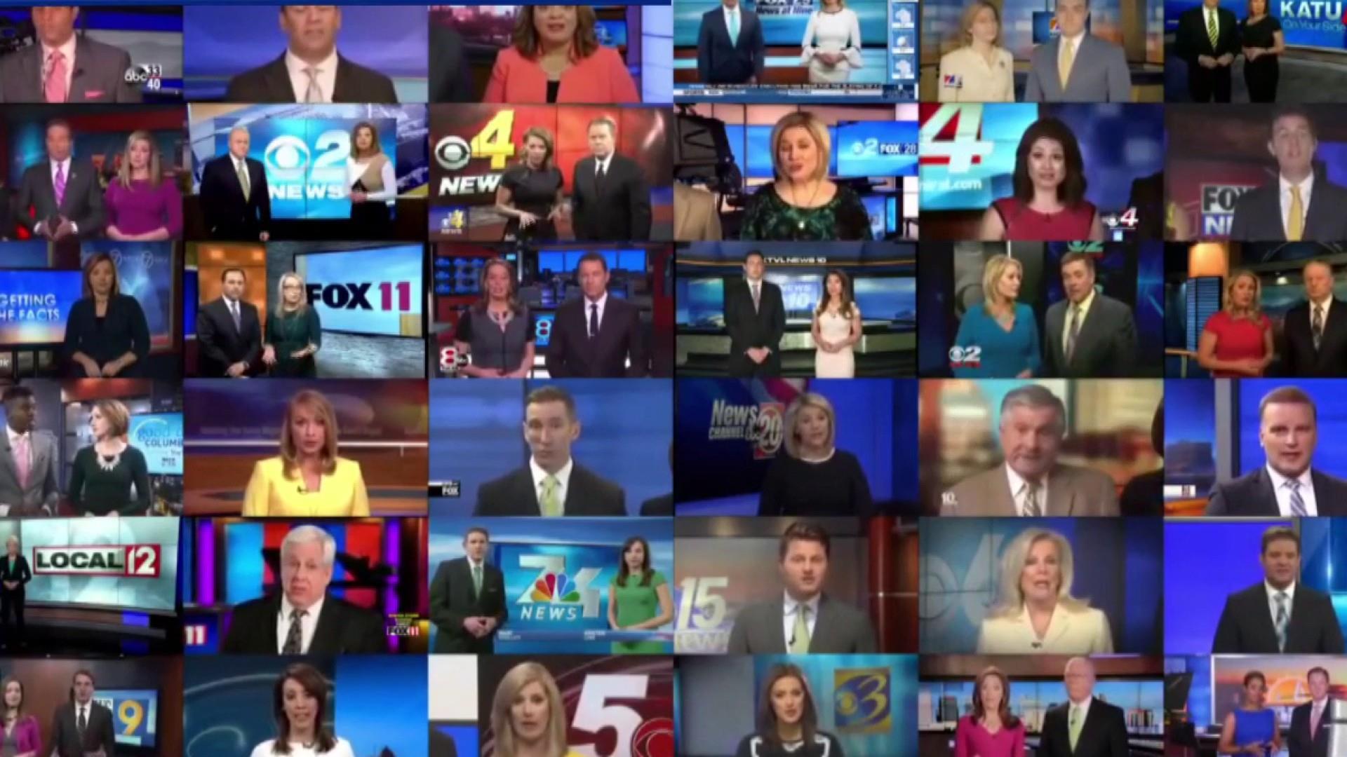 Trump hails Sinclair amidst anchors forced to read media-bashing scripts
