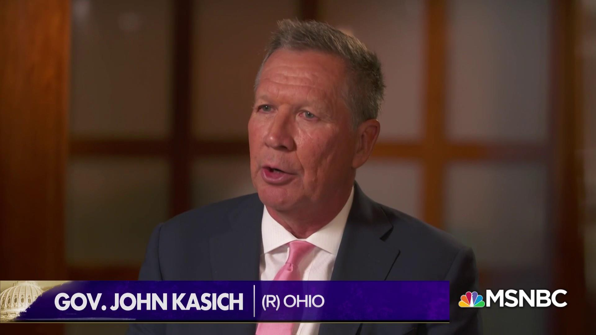 "Gov. Kasich: ""All my options are on the table"" for 2020"