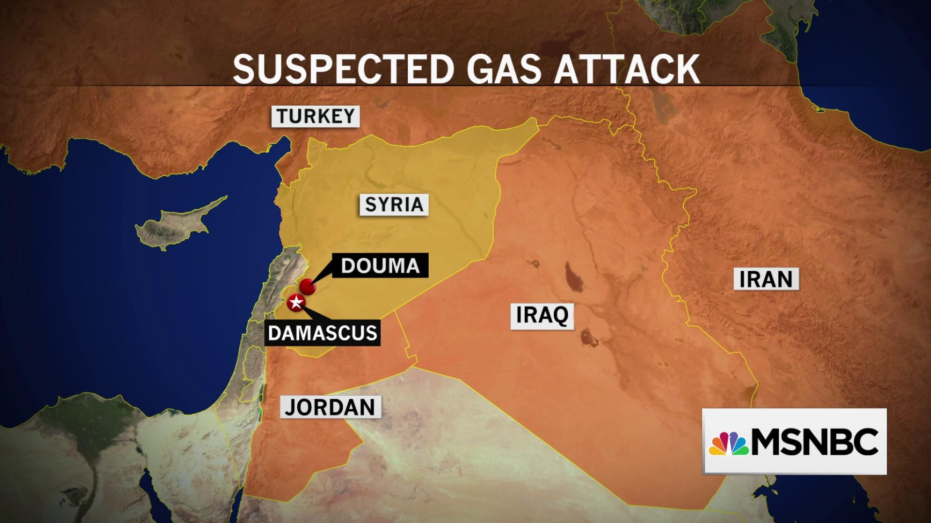 How will U.S. respond to suspected chemical attack in Syria?