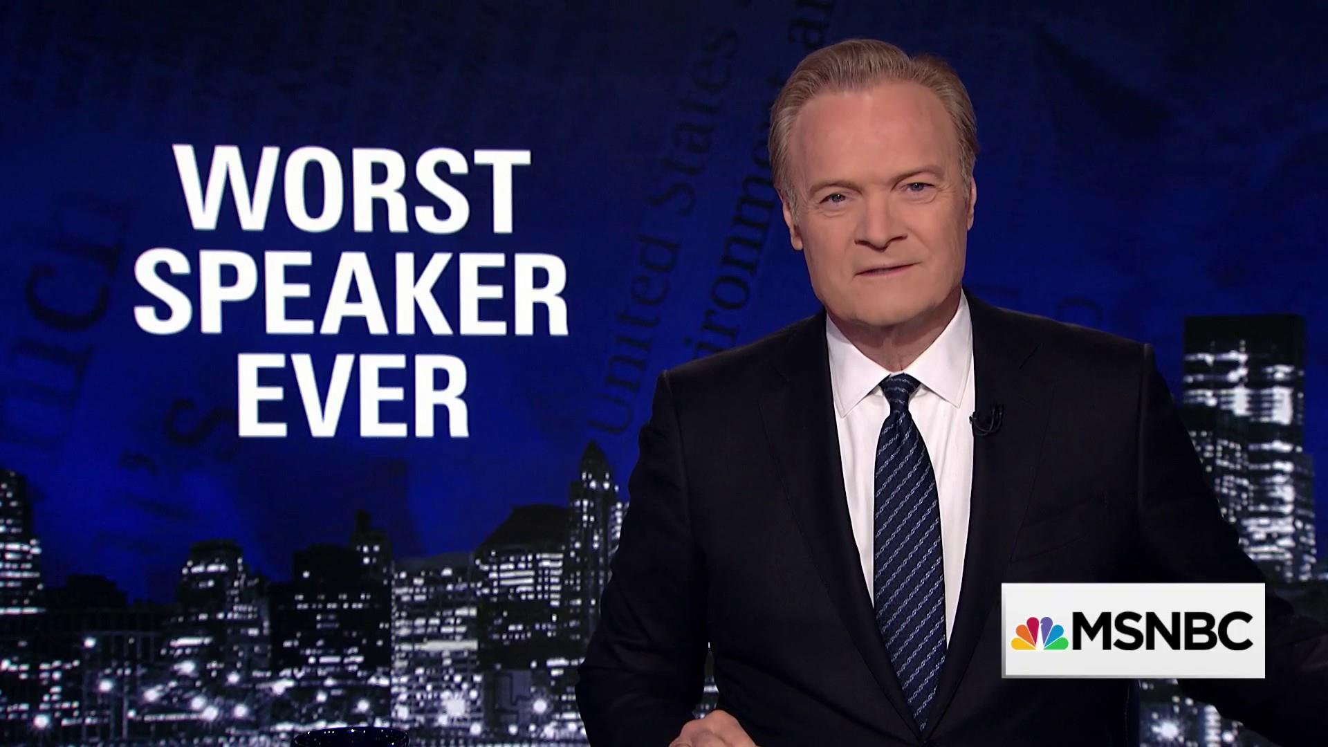 Lawrence: Paul Ryan is the worst House Speaker ever