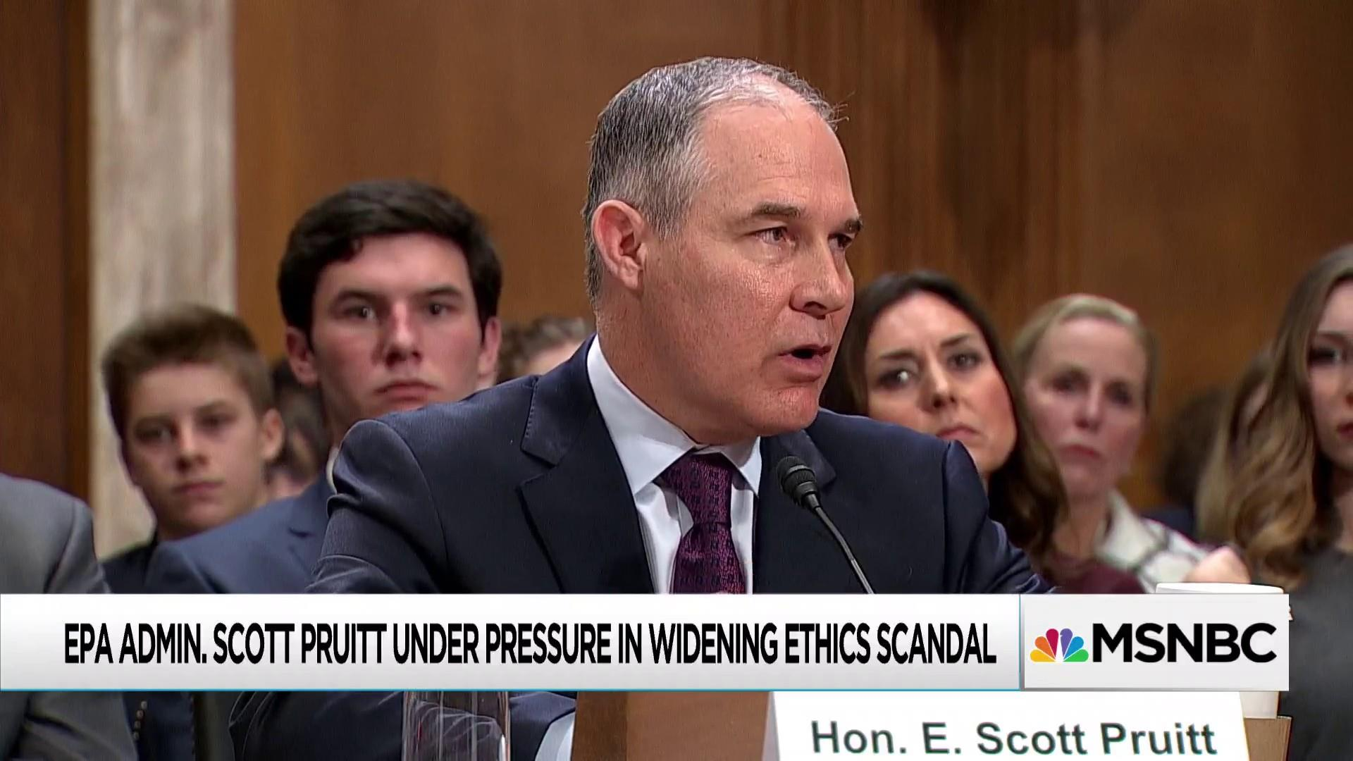 Perks for Pruitt staffers swell list of scandals at Trump's EPA