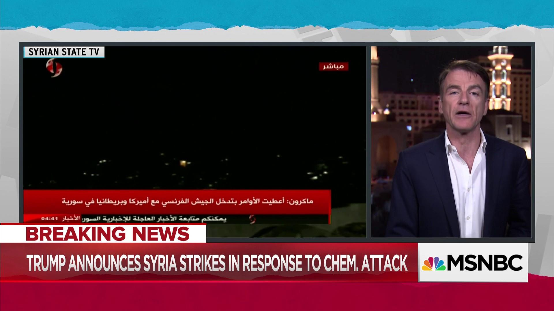 Reports identify 'significant strikes' to three Syrian areas