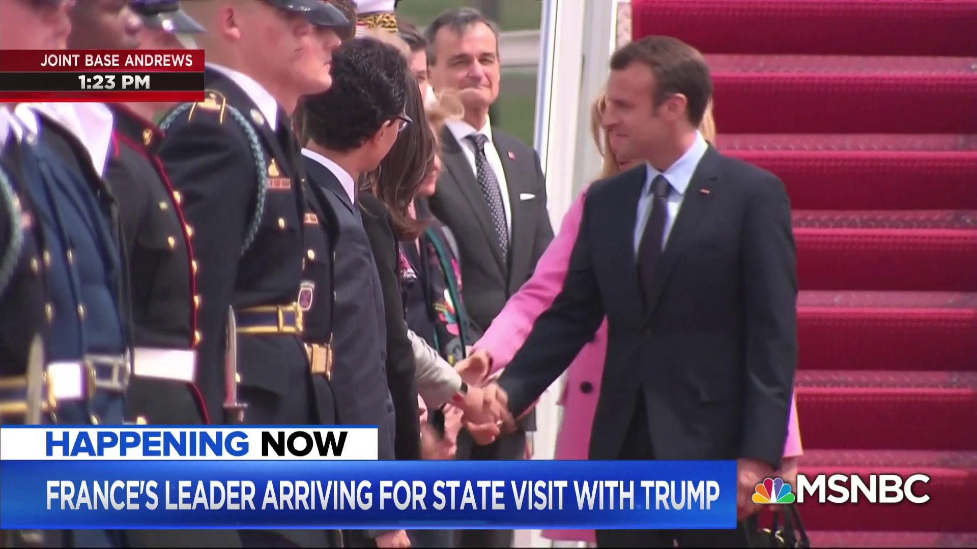 French President arrives to U.S. for state visit