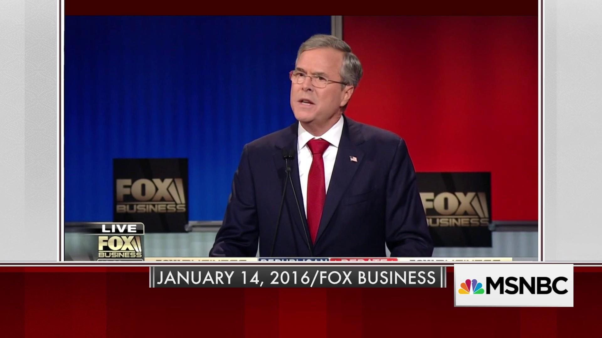 In 2016, Jeb got it right about a trade war