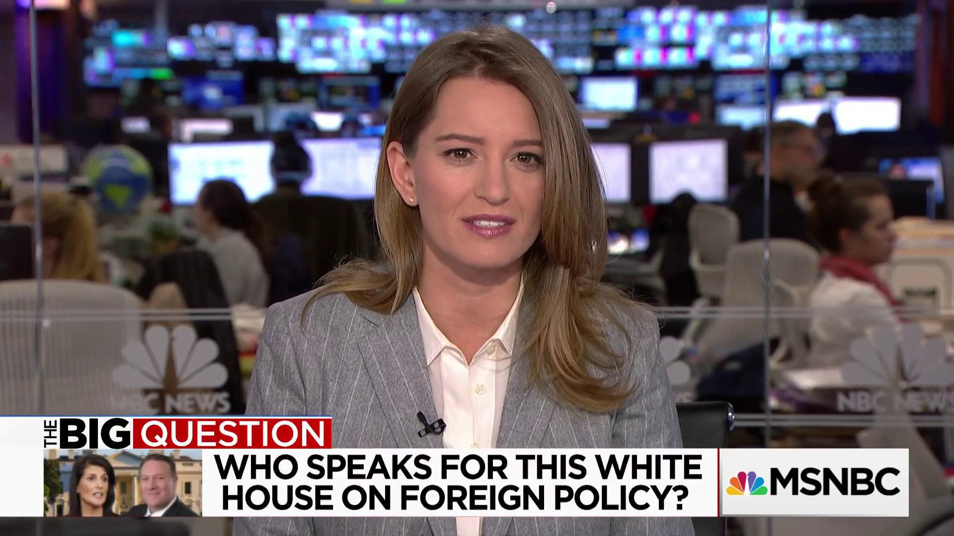 The Big Question: Who speaks for the White House on foreign policy?