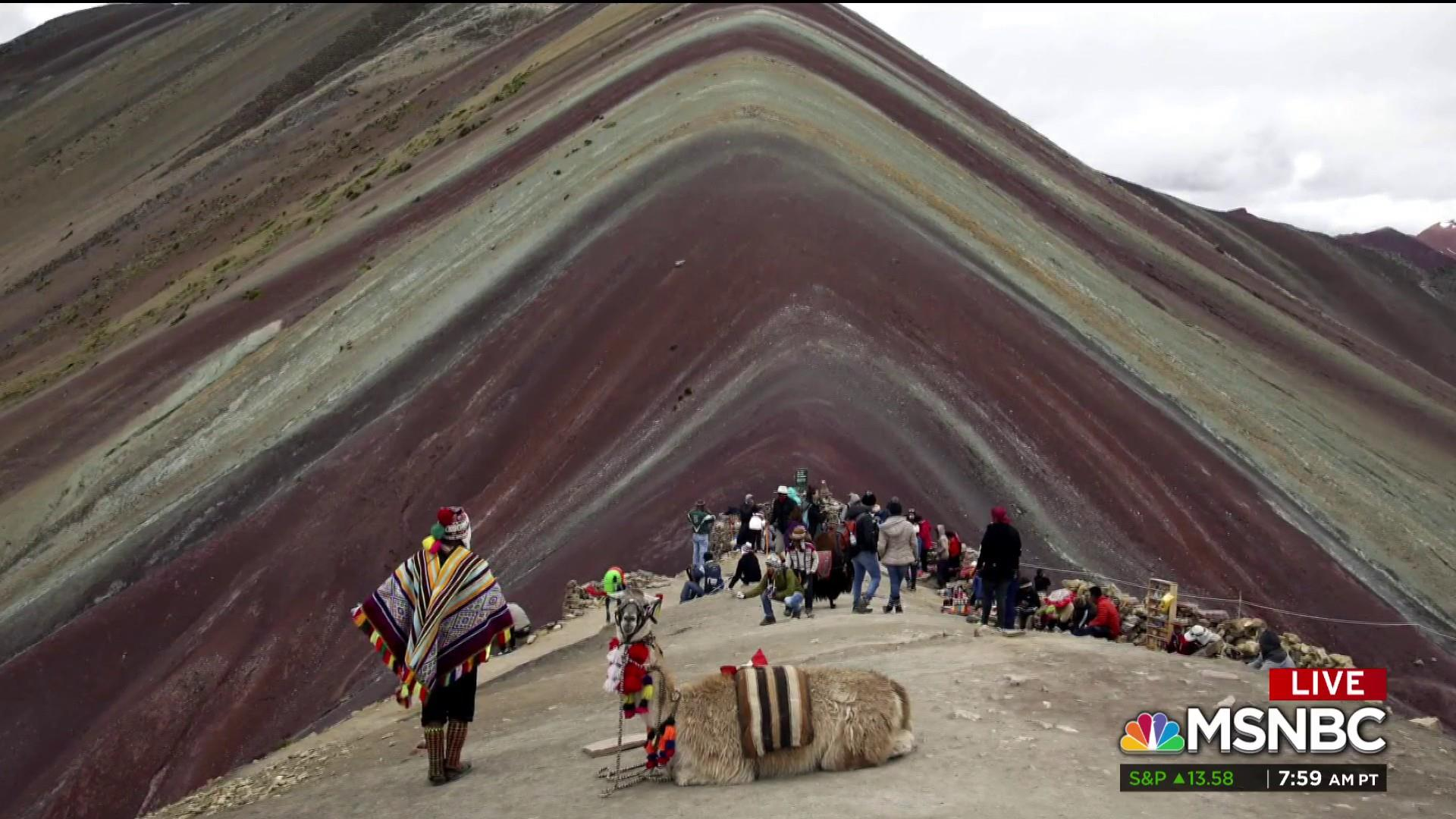 #BIGPICTURE: 'Rainbow Mountain' faces danger in wake of tourists