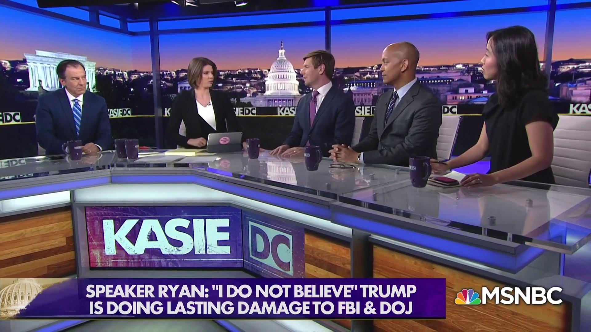 Speaker Ryan: 'I do not believe' Trump is doing lasting damage to DOJ, FBI