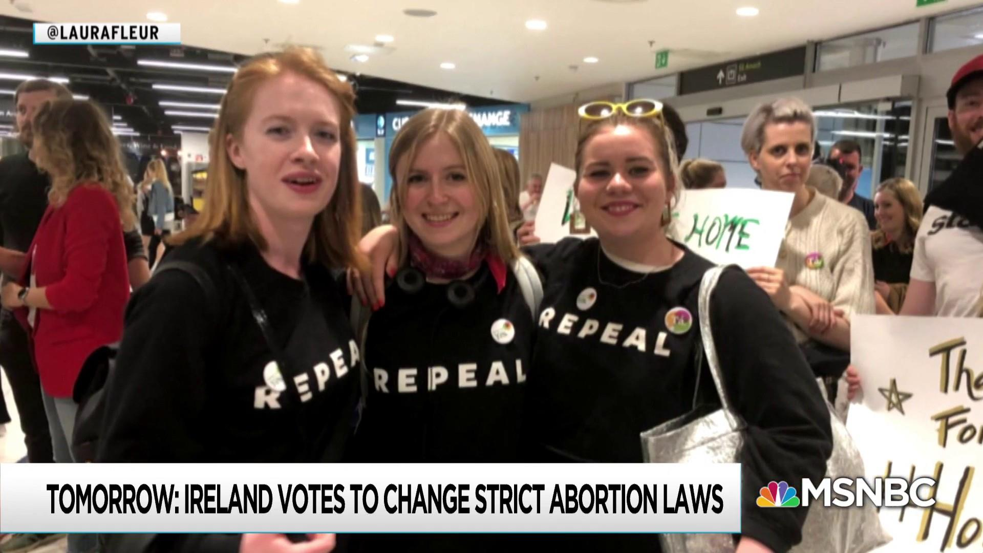 Irish abroad return home for vote loosening abortion ban