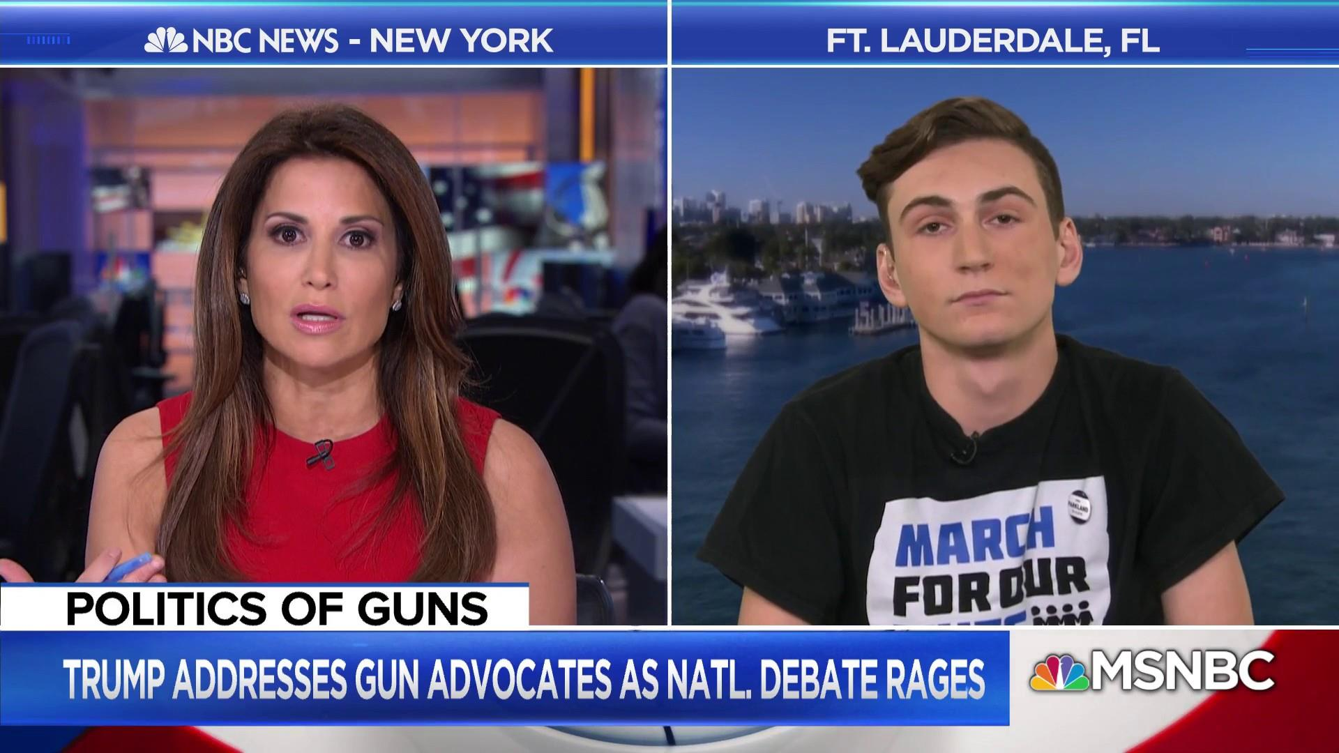 Parkland student: Trump's stance to arm teachers is 'crazy'