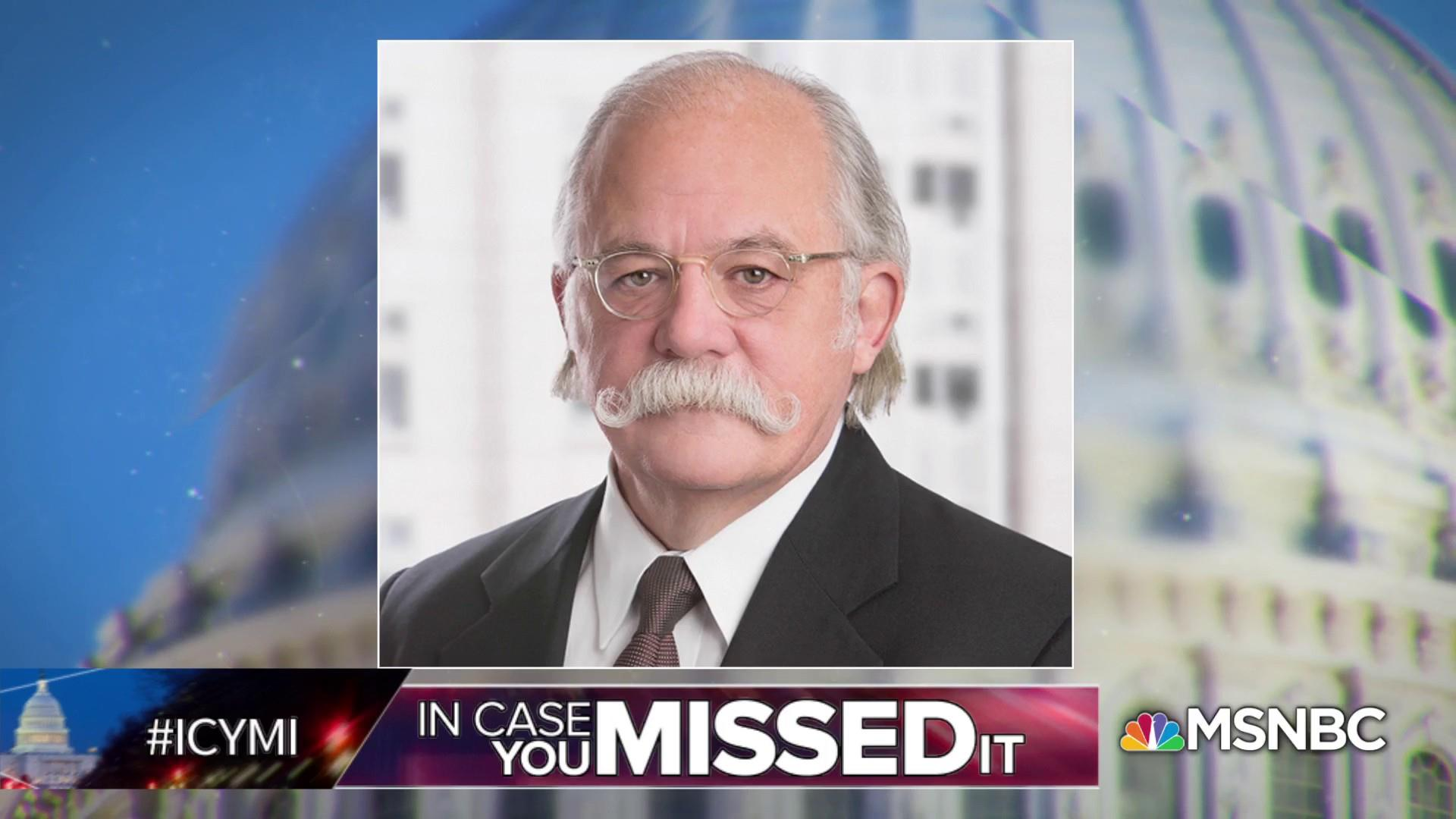 Trump legal team loses Ty Cobb (and his mustache)