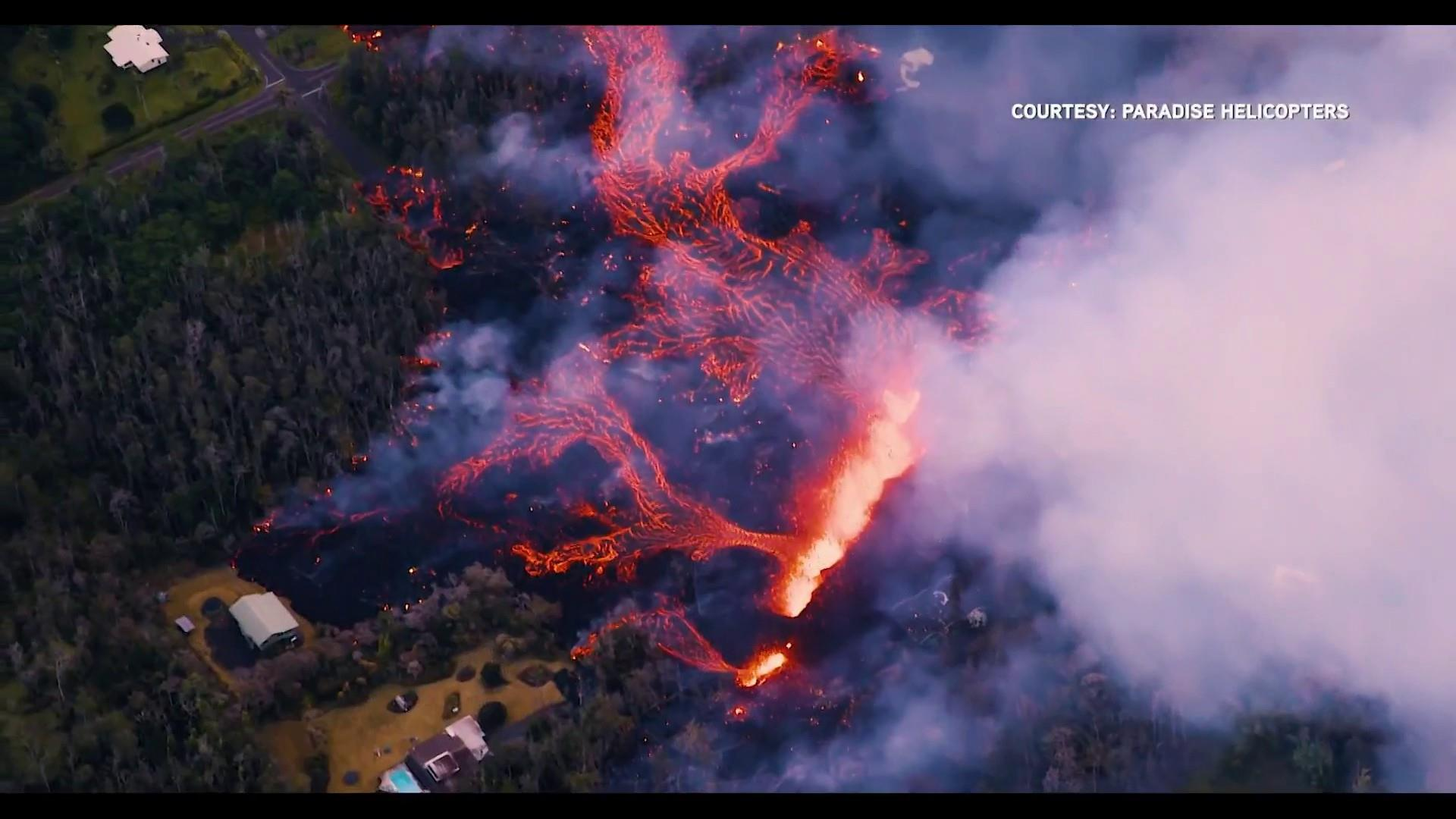 'No sign of slowing down': Lava damages 35 buildings in Hawaii eruption