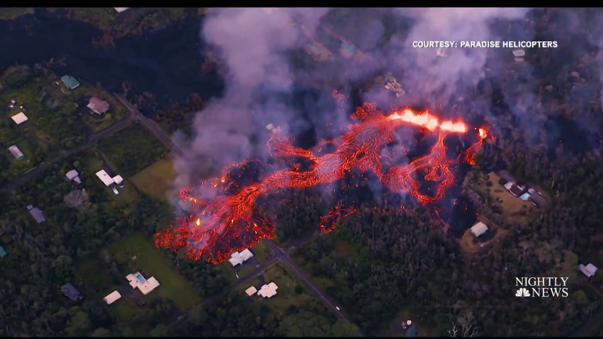 Satellite photos show Hawaii volcano leaking lava, toxic gas