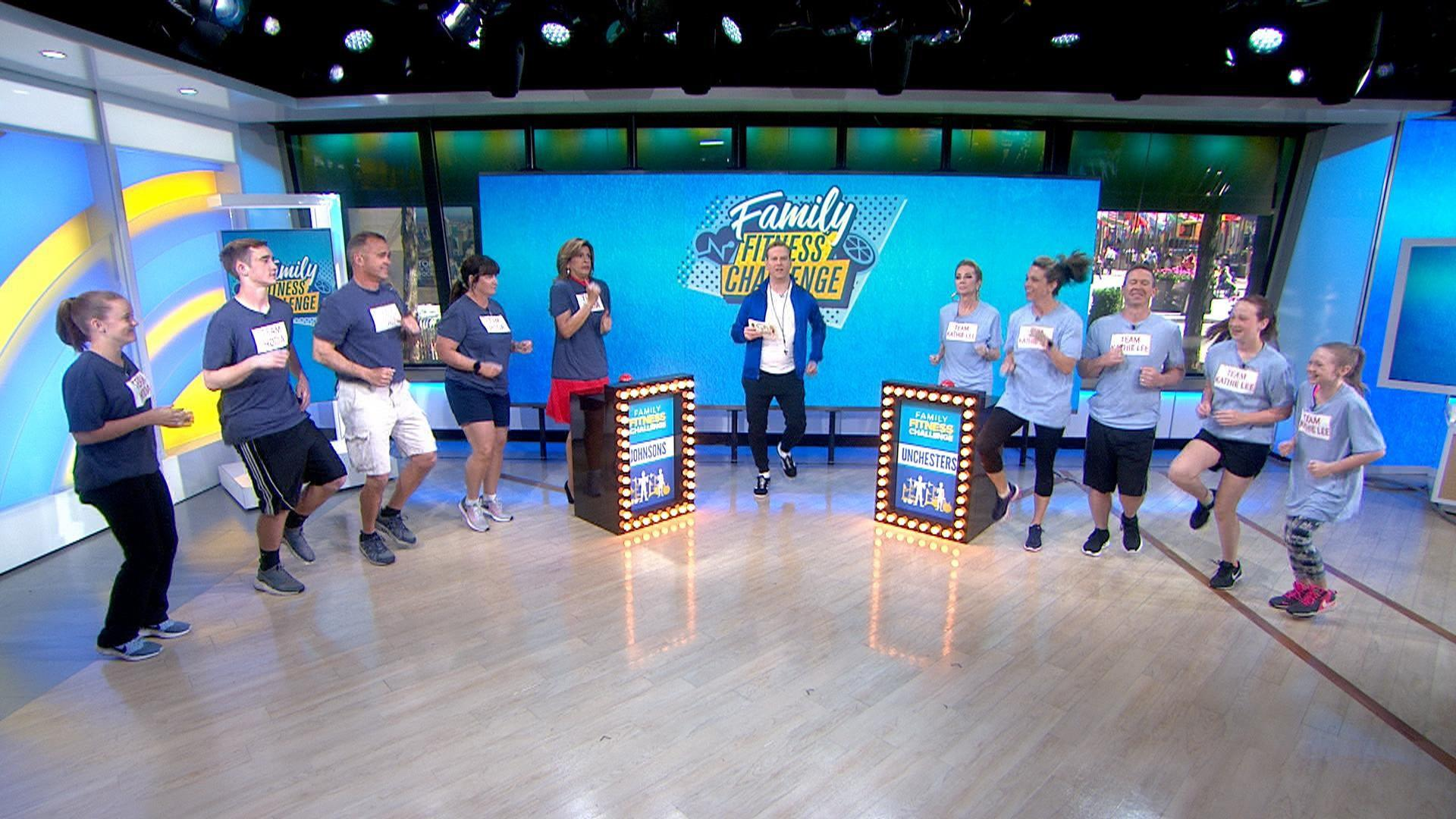 See Kathie Lee and Hoda square off in family fitness challenge