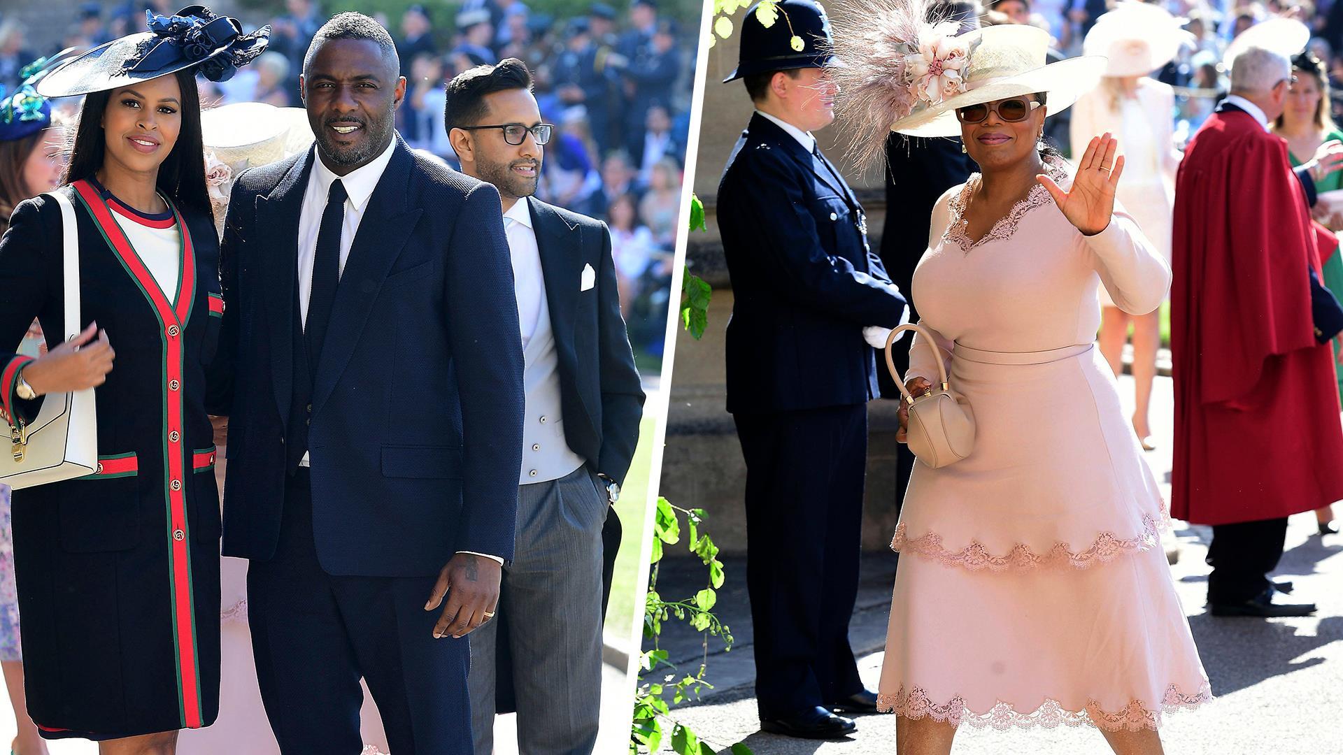 Oprah Winfrey Royal Wedding.Royal Wedding Idris Elba Oprah Winfrey More Arrive At Windsor Castle