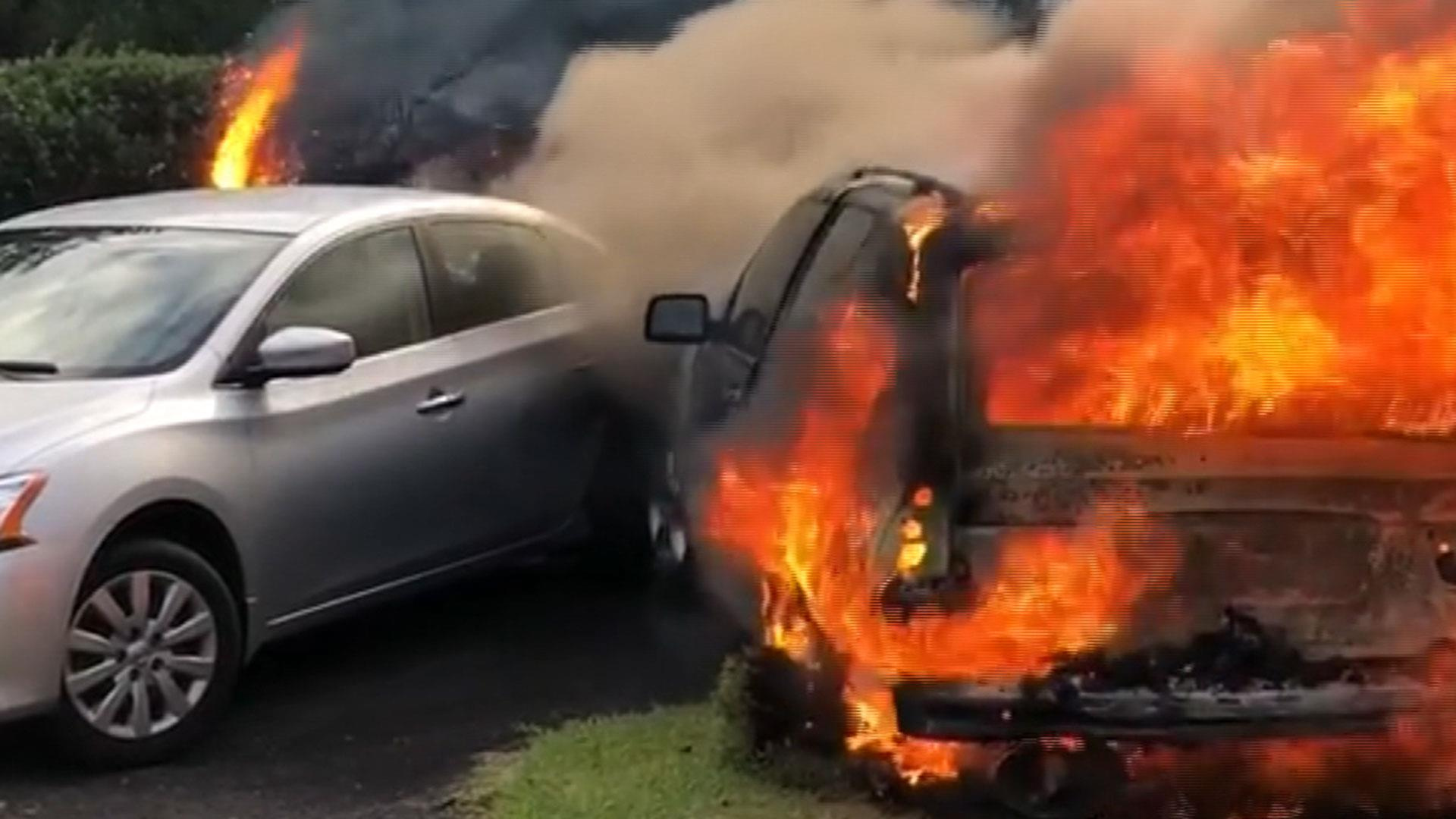 Ford Burning Cars
