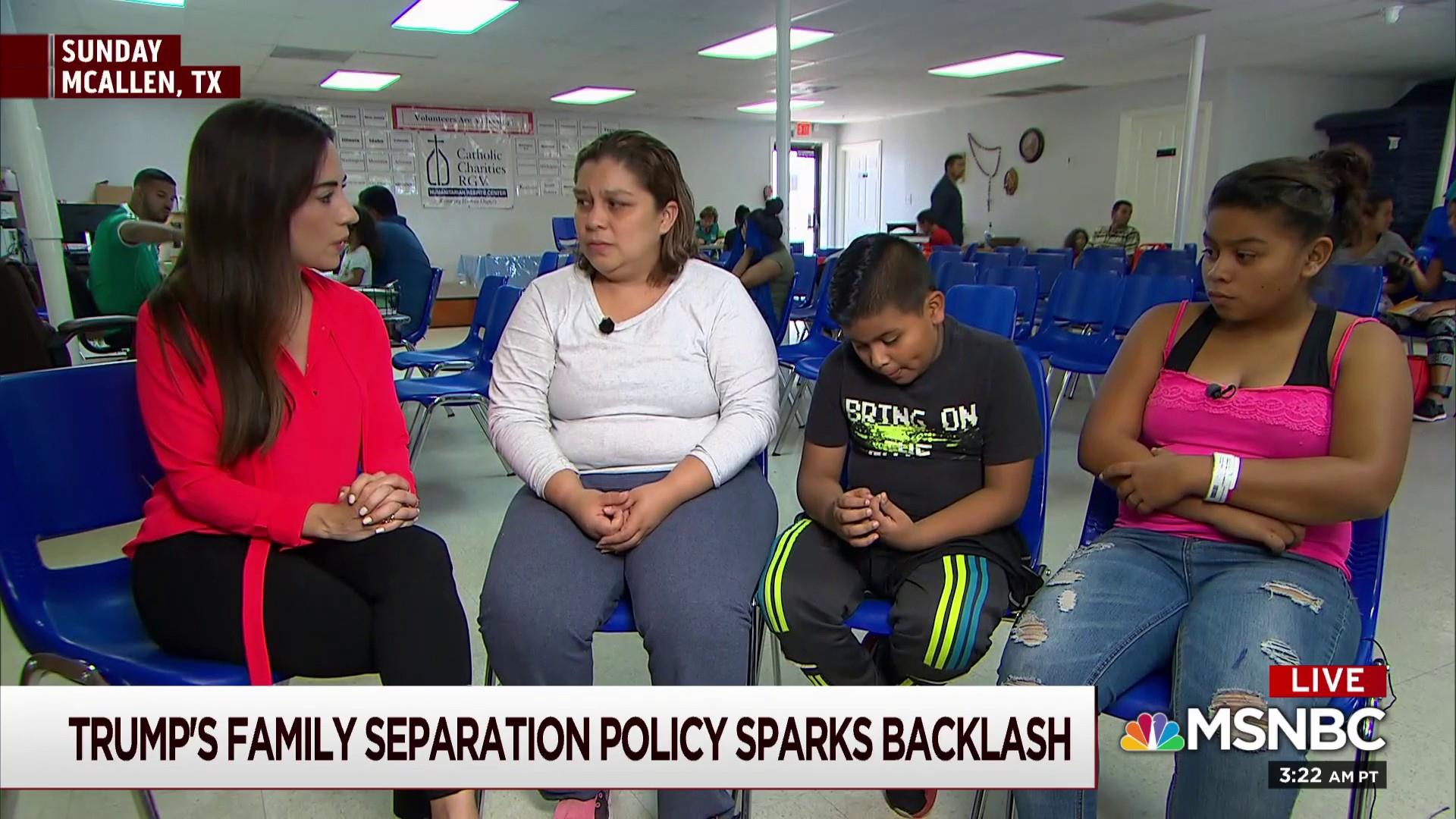 Mother discusses being separated from kids at border