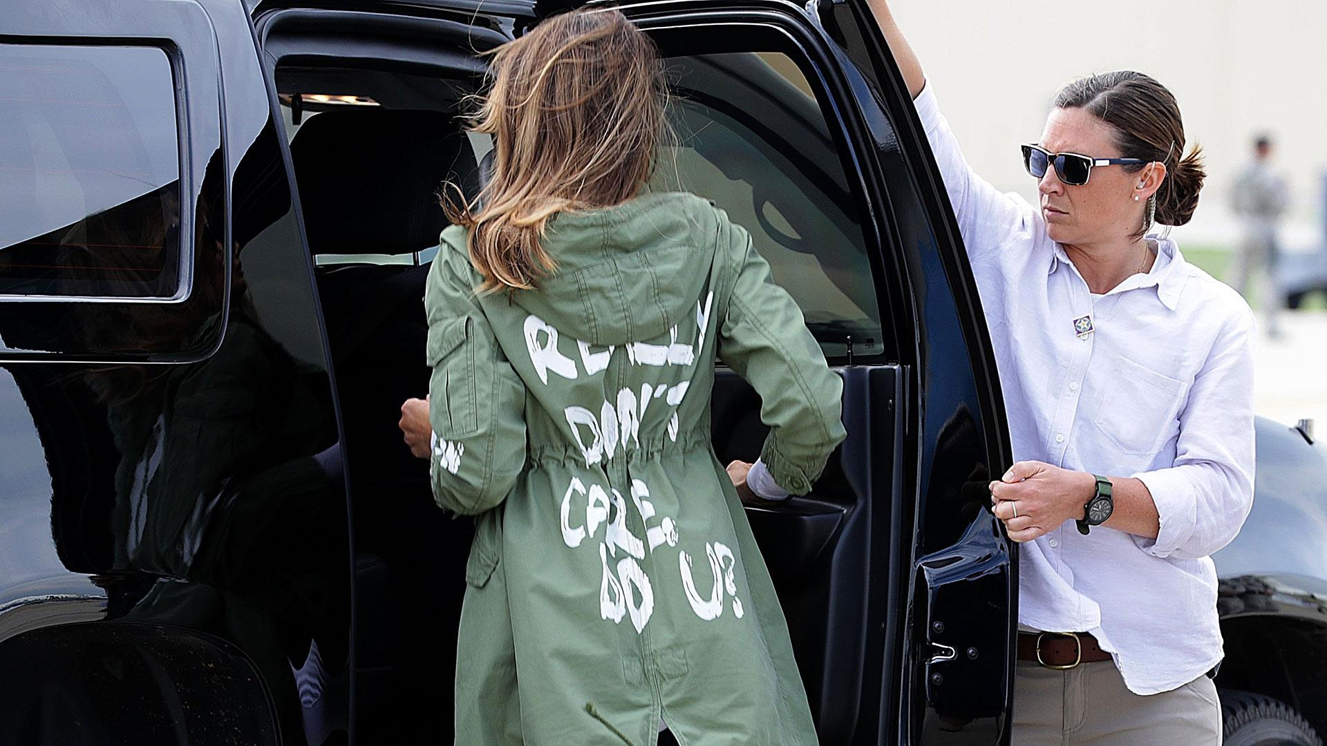 2b3d5bc634a3 First lady Melania Trump wears controversial jacket to visit migrant kids  at Texas border