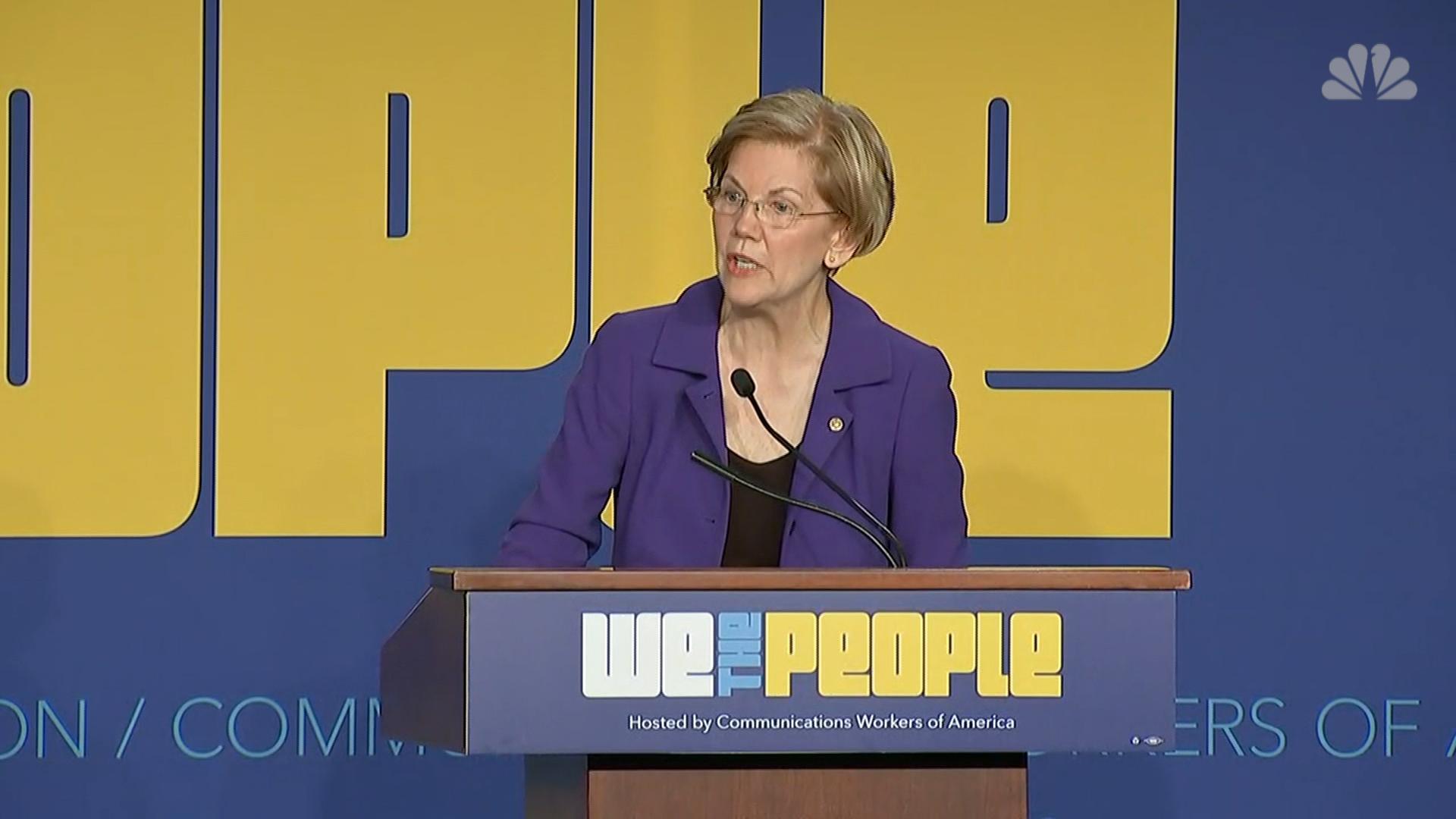Senator Warren alleges corruption in the Trump administration