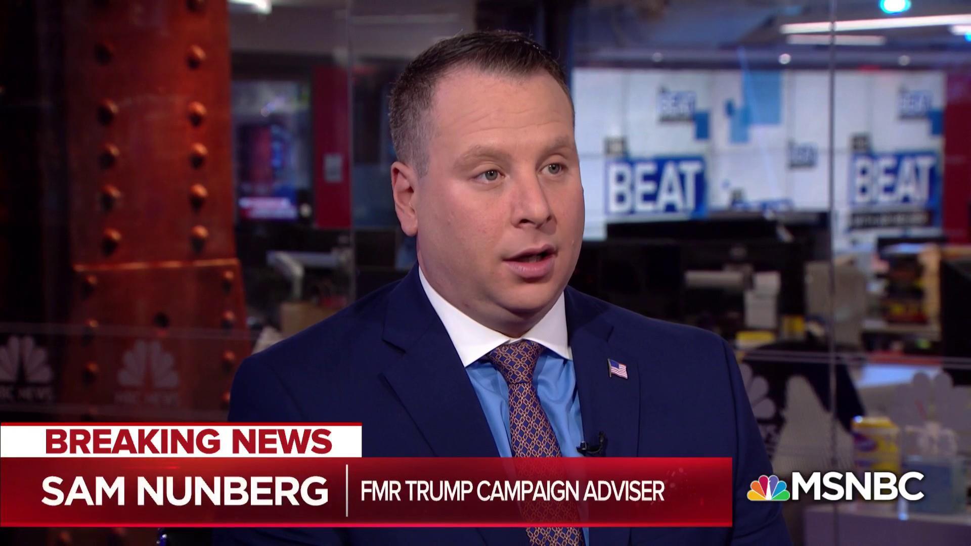 Sam Nunberg explains why Trump aides talk to Trump via TV