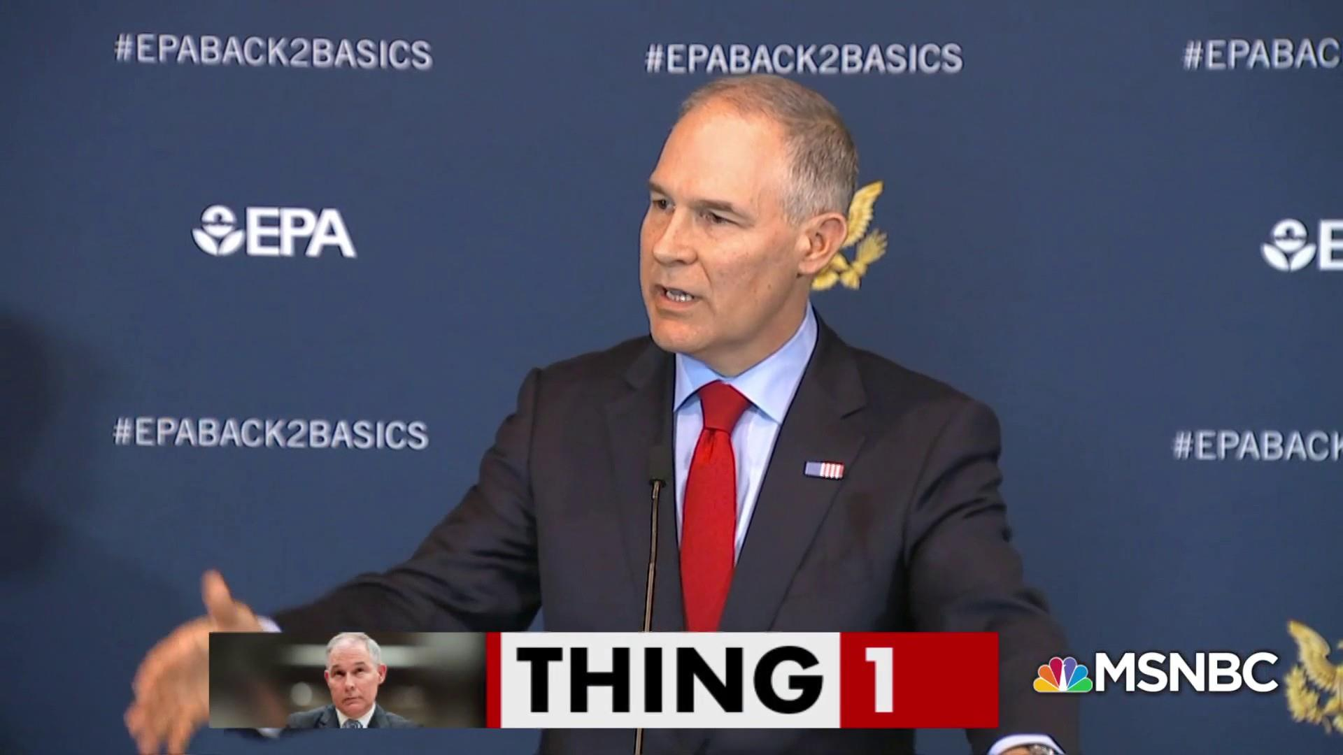 Scott Pruitt wanted to buy a used mattress from Trump