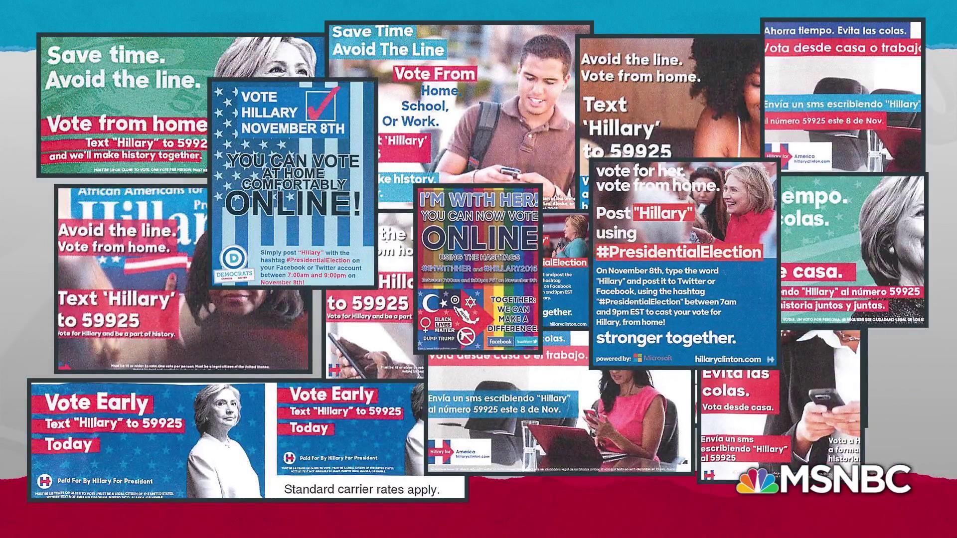 Anti-Clinton ads show major effort to subvert U.S. democracy