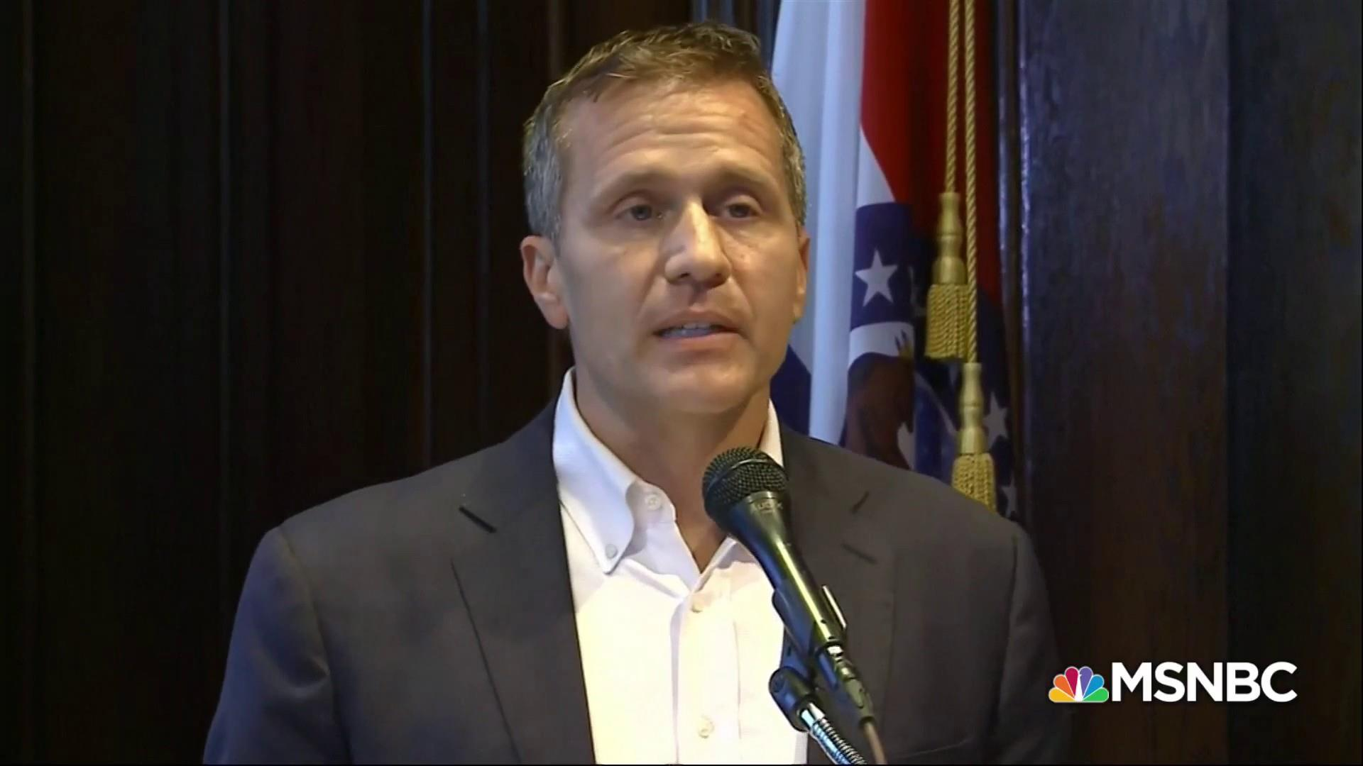 Eric Greitens resigns governorship with flurry of activity