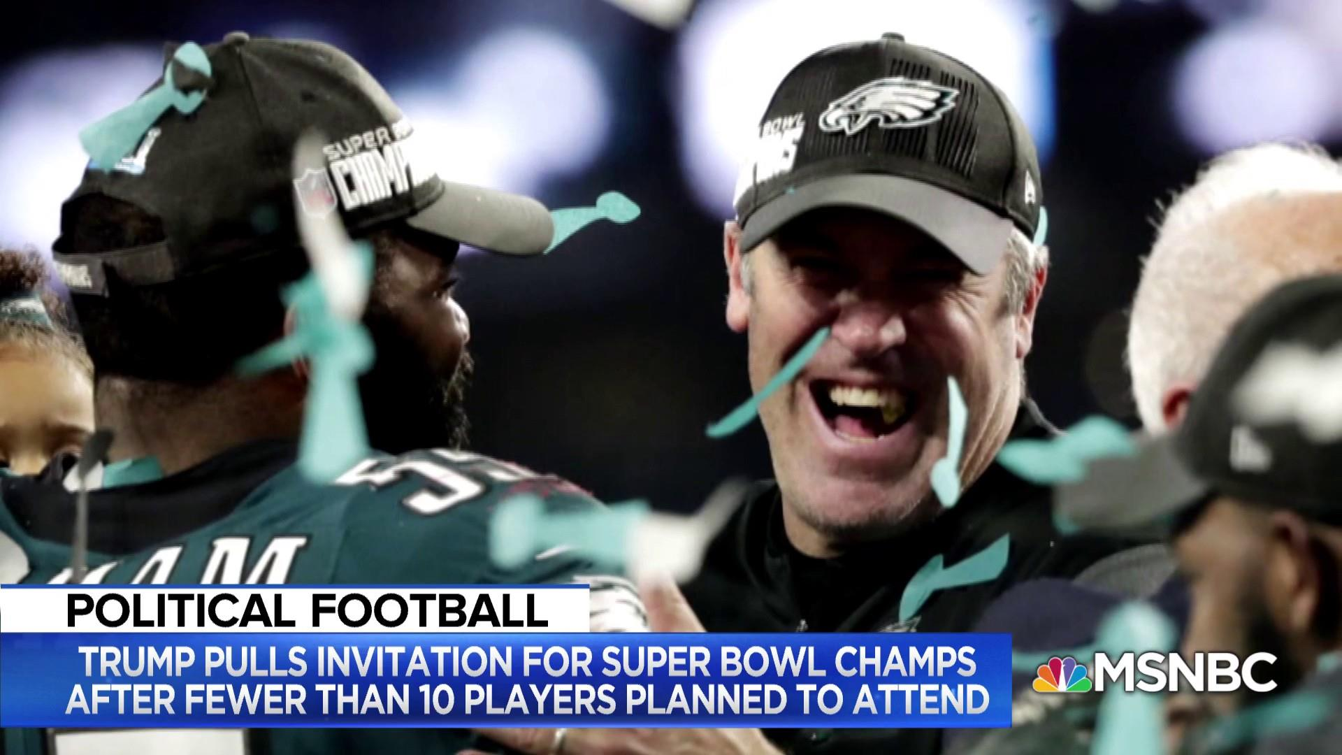 Why did Trump cancel Eagles visit to the White House?