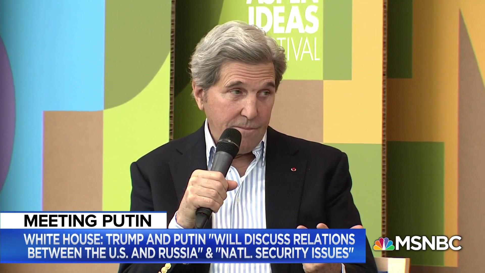 John Kerry talks Trump-Putin meeting, Iran, North Korea