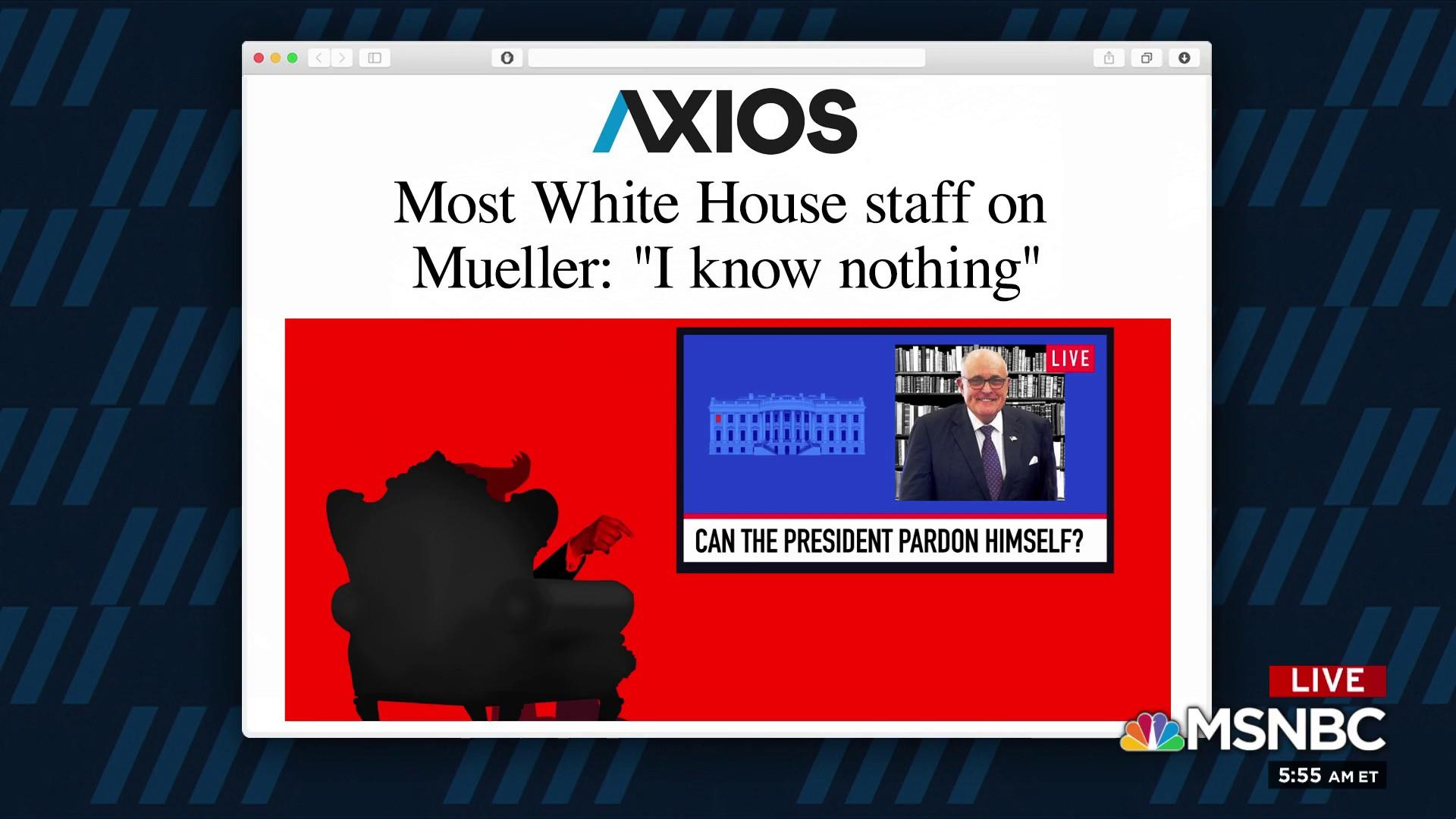 Most White House staff on Mueller: 'I know nothing'