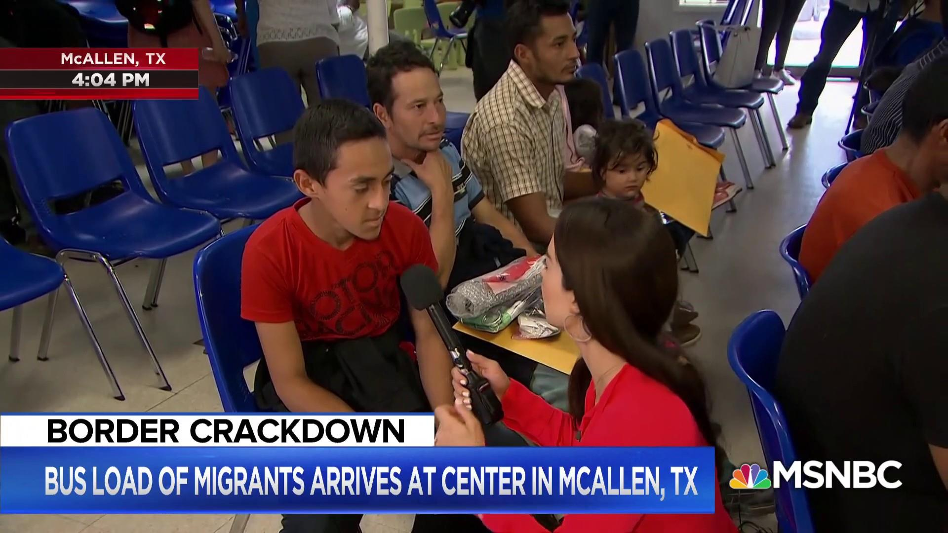 Migrant fathers and sons describe conditions in detention centers