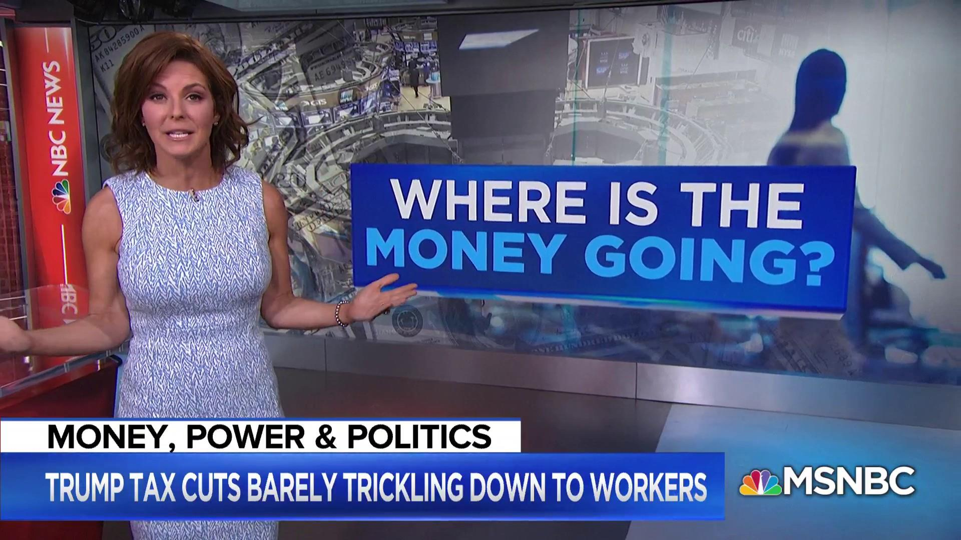 Trump tax cuts barely trickling down to workers, here's why