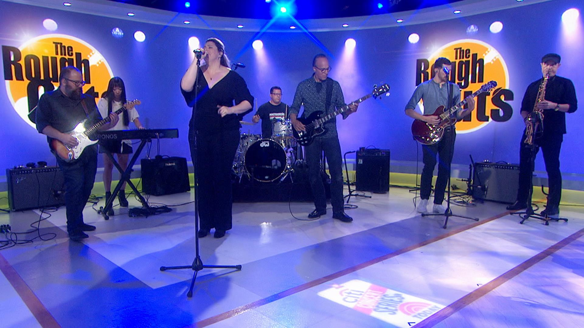Lester Holt's band, The Rough Cuts, makes its TV debut on TODAY