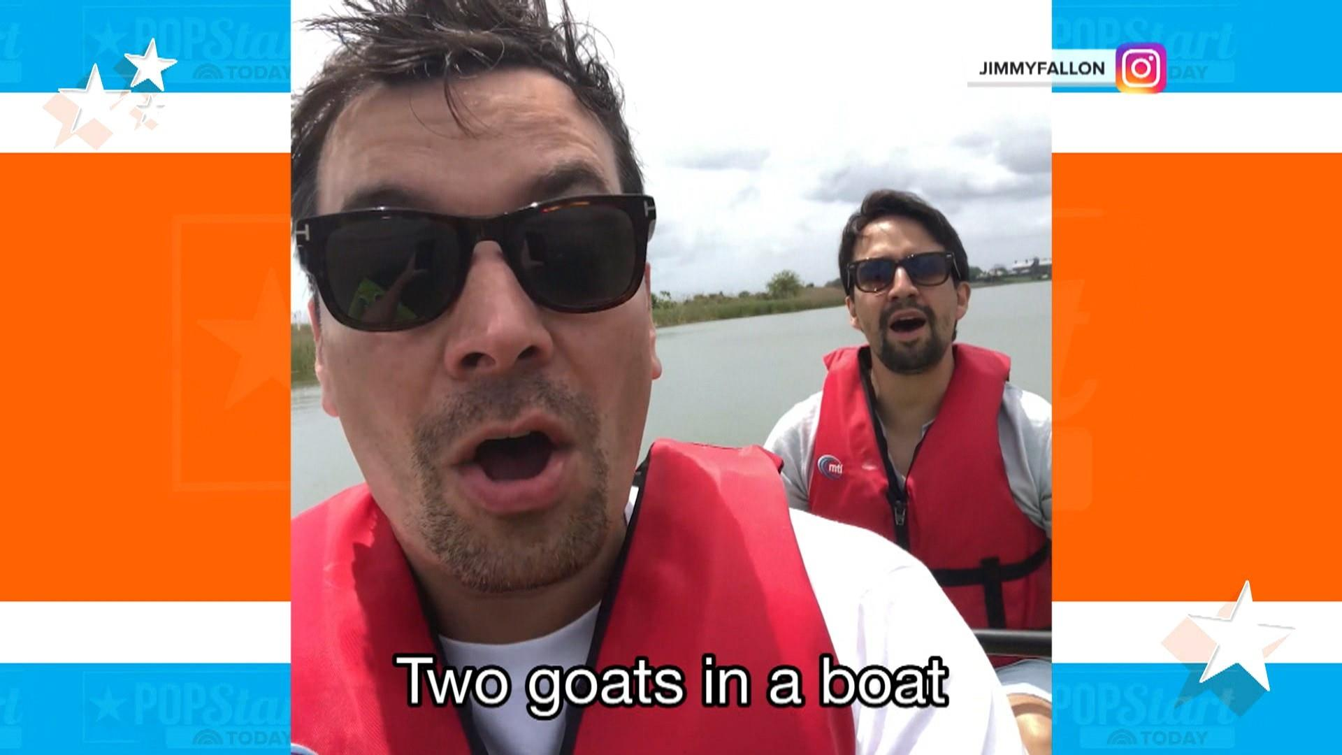 Jimmy Fallon and Lin-Manuel Miranda bond over their goatees