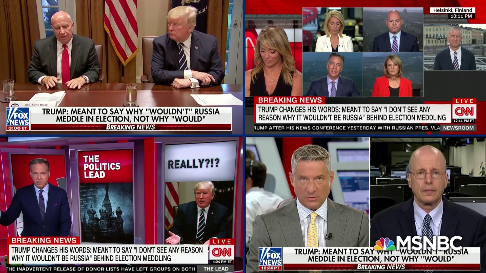 Fox News defends Trump's Russian media gaffe after criticizing it
