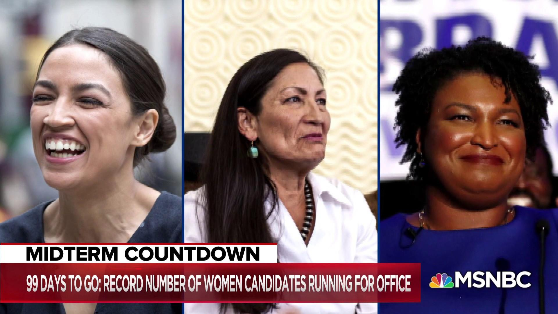 99 days until midterms: Record number of women power blue wave