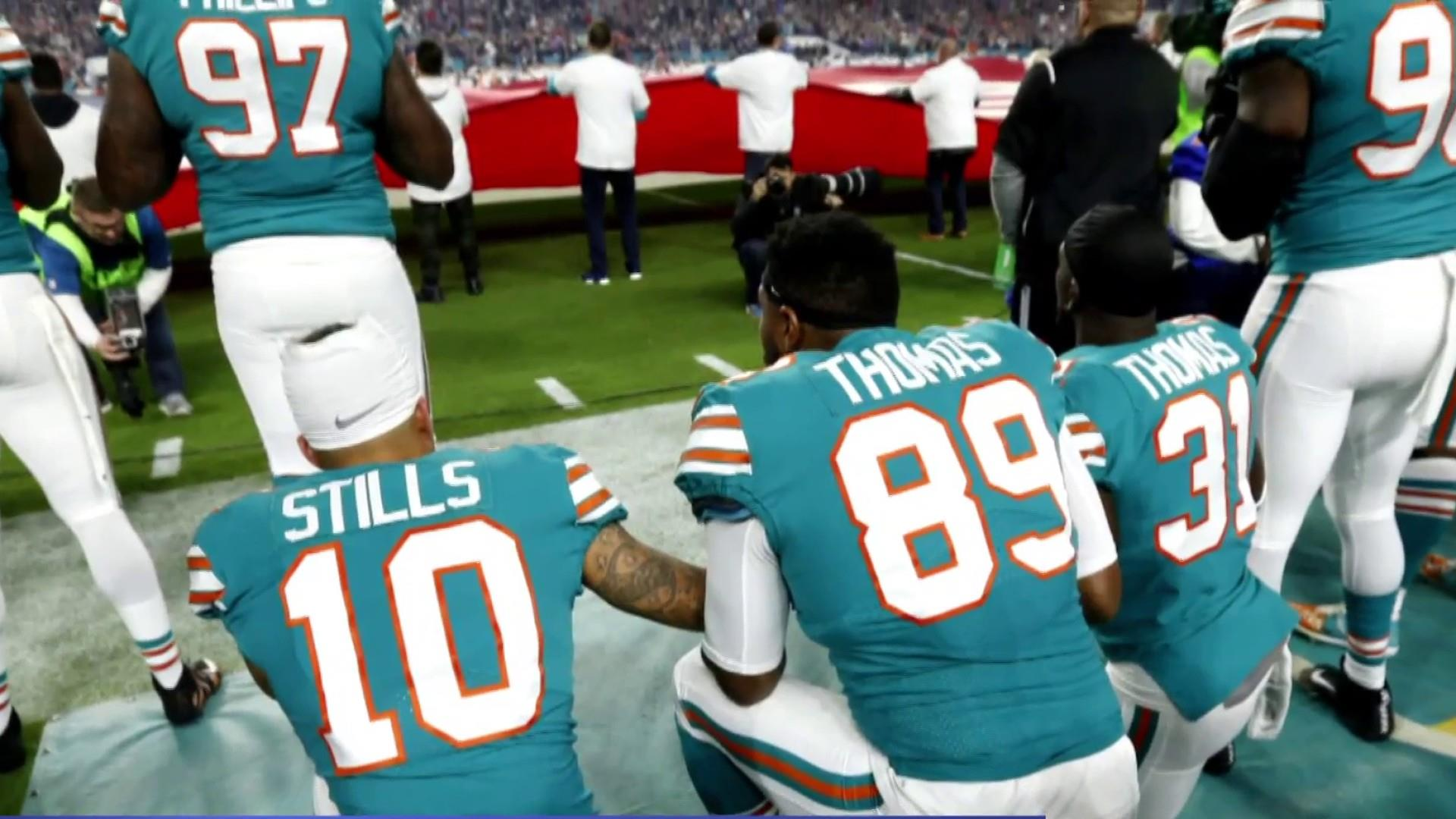 Trump responds to hold on NFL's anthem policy