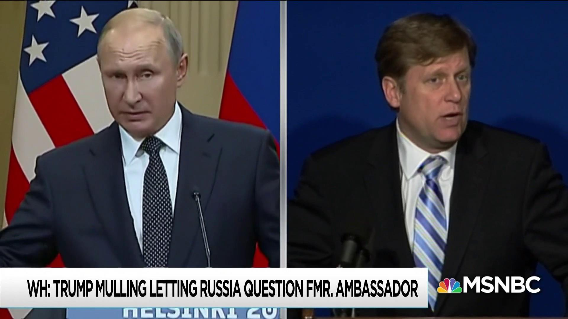 Trump admin waffles on standing up for Americans against Putin