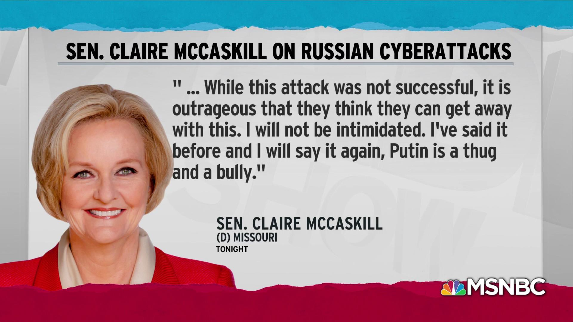 McCaskill ID'd as first 2018 target of Russian hackers: report