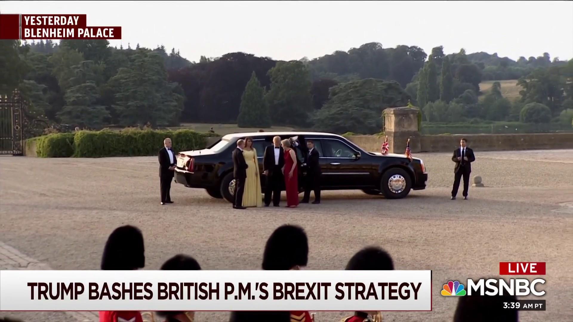 Trump drives bulldozer 'straight through' Brexit plan