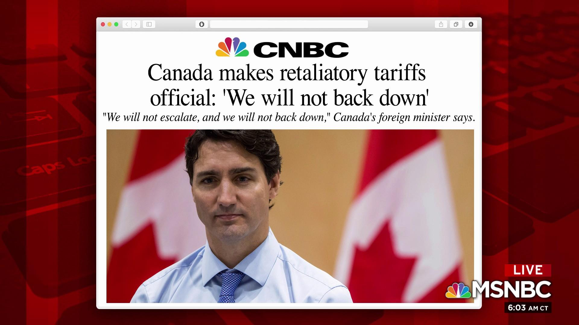 Canada fights back against the trade 'war'