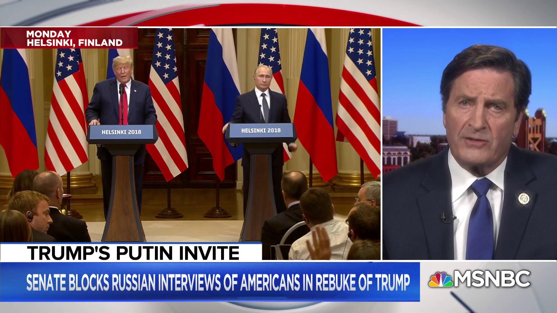 House Democrat: Don't give Putin a summit in the U.S.