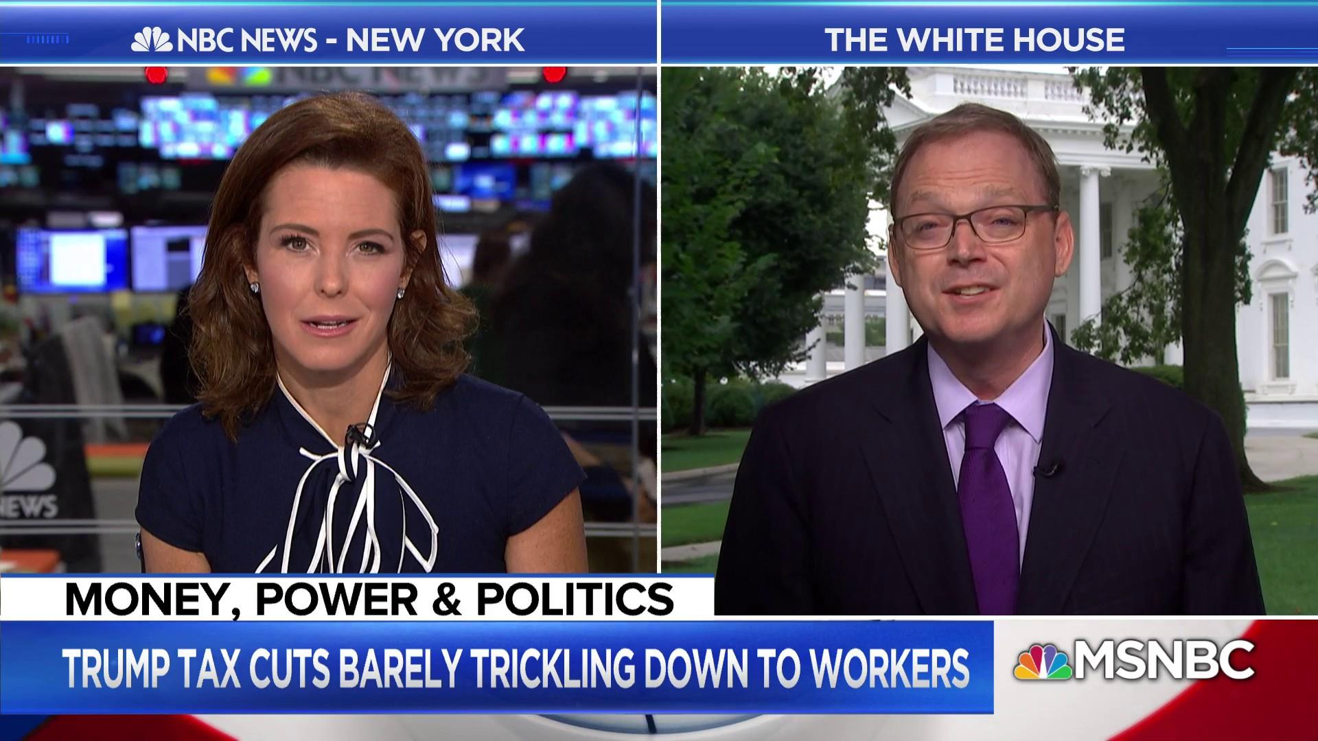 Kevin Hassett talks wages, the economy & Trump blasting Fed Chair