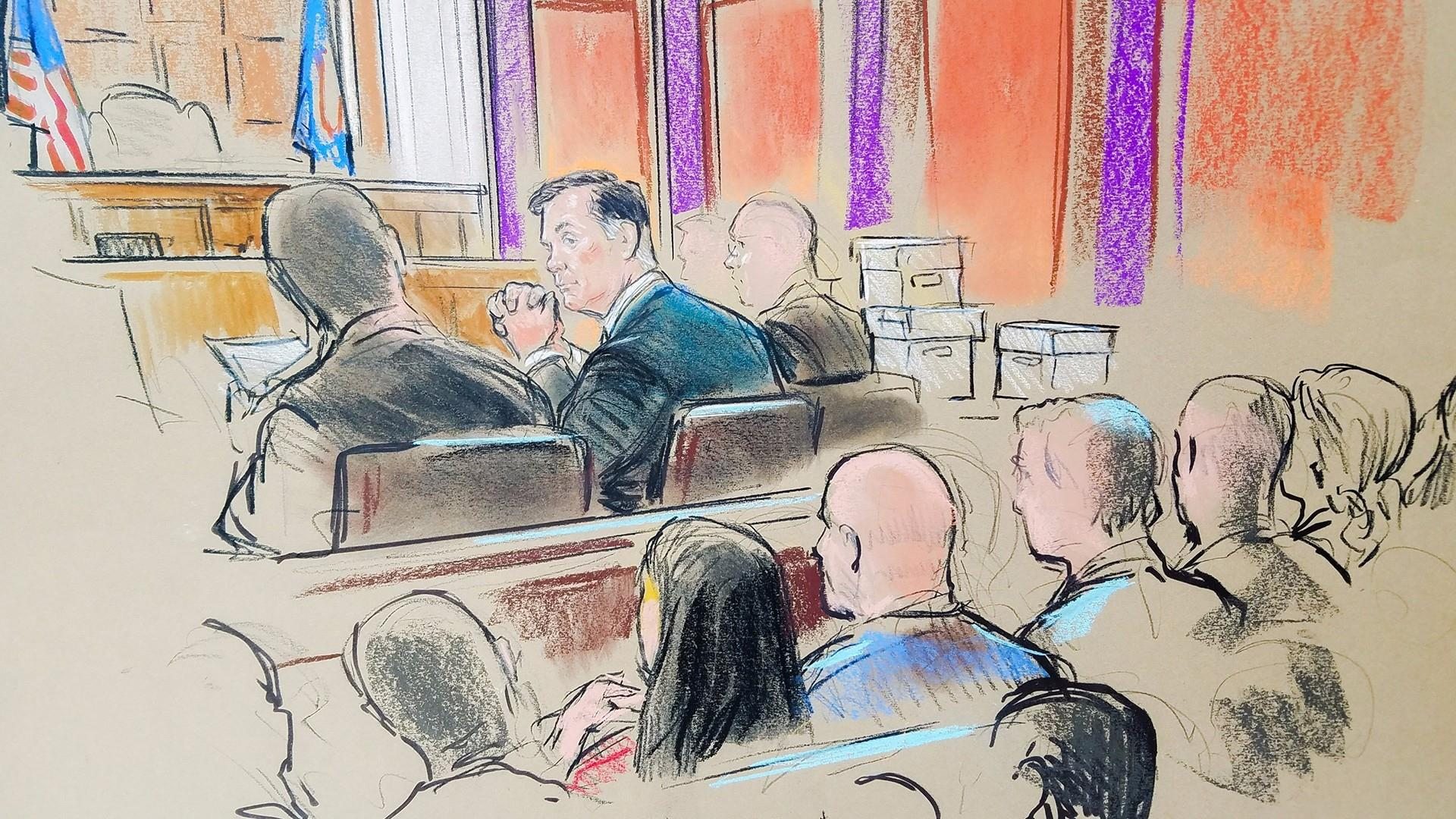 Jury selected in first day of Manafort trial