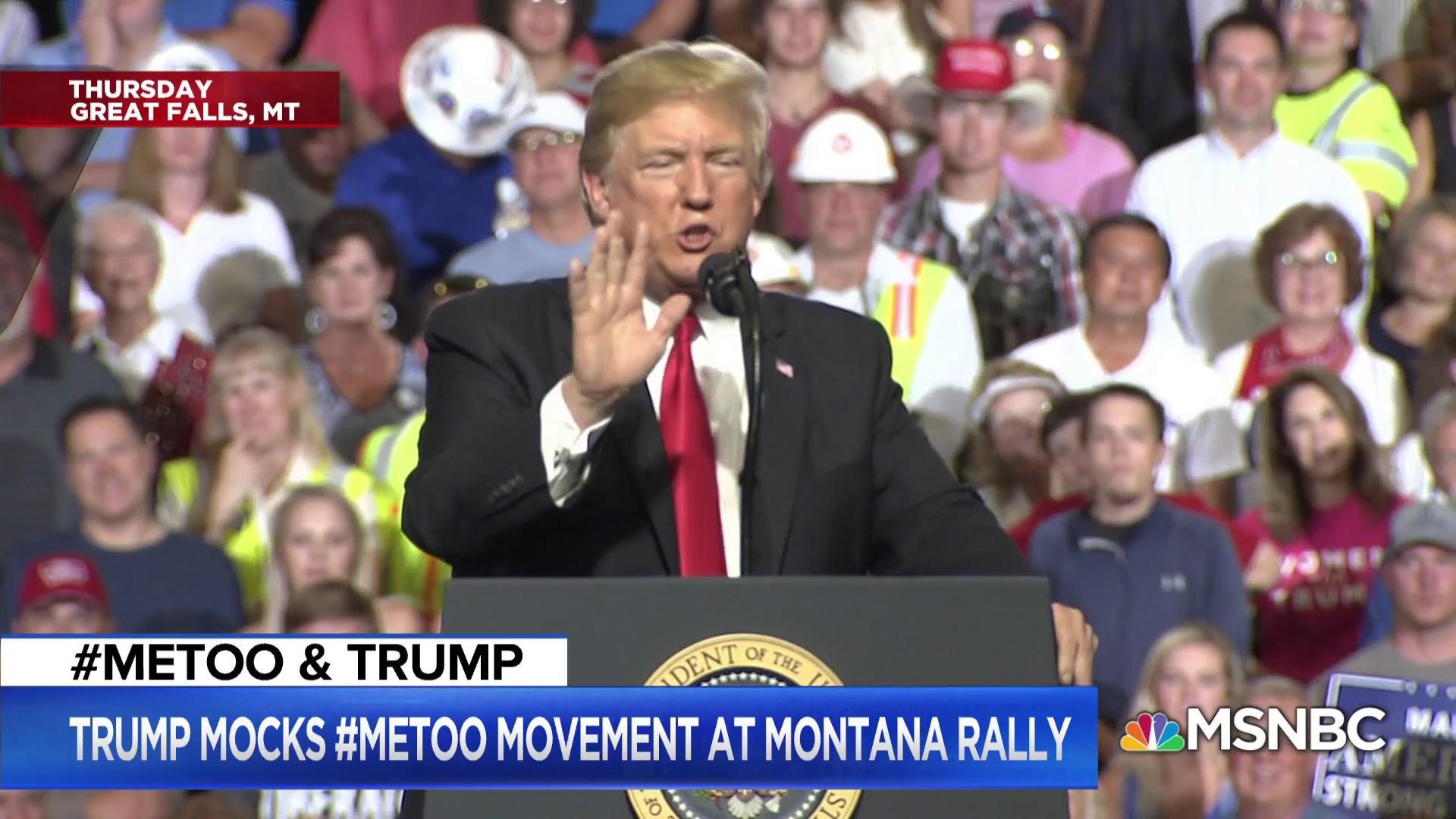 Trump & Women: Pres. turns #MeToo into a joke, hires Fox's Shine