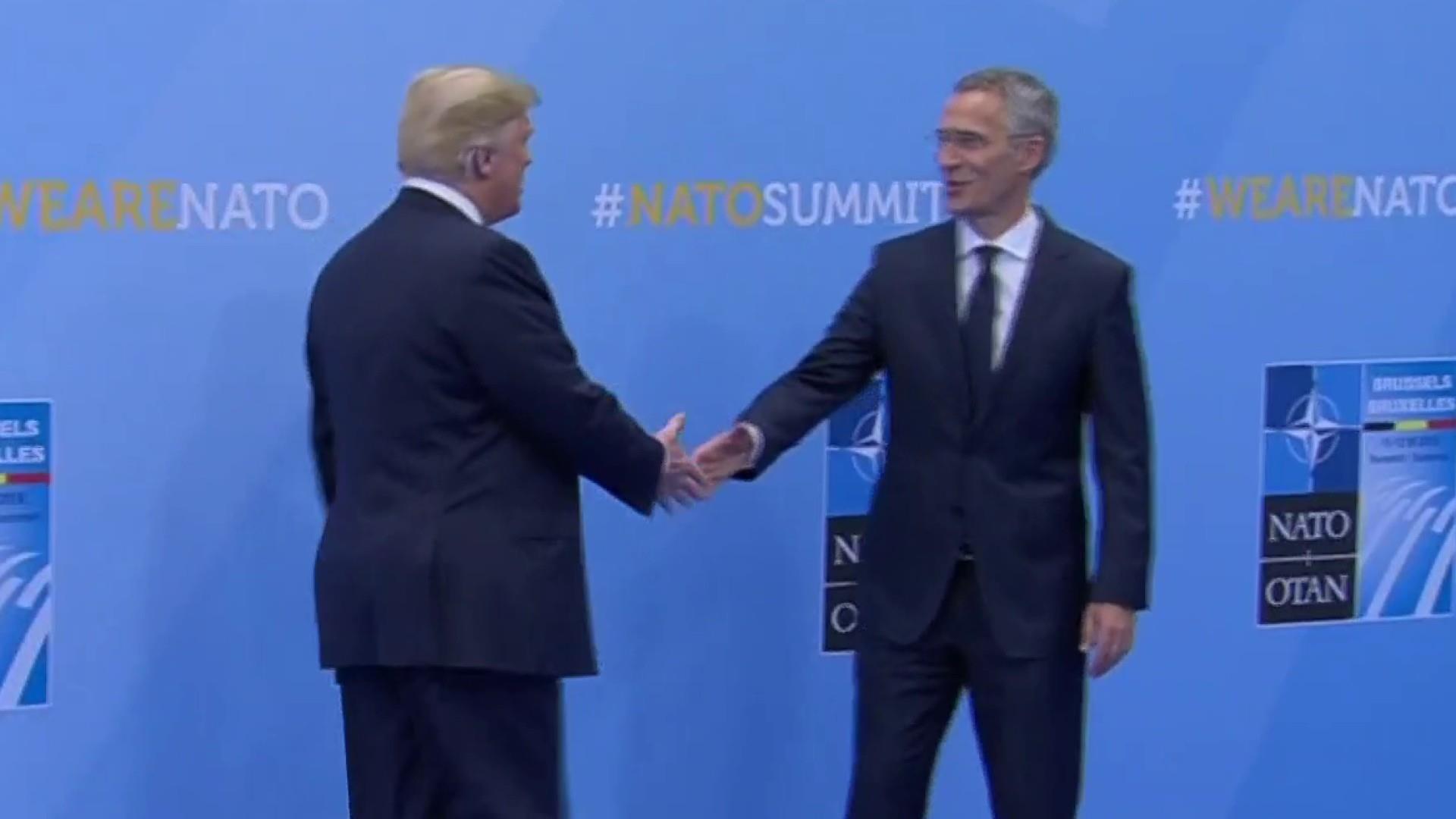 President Trump points fingers at NATO over defense spending