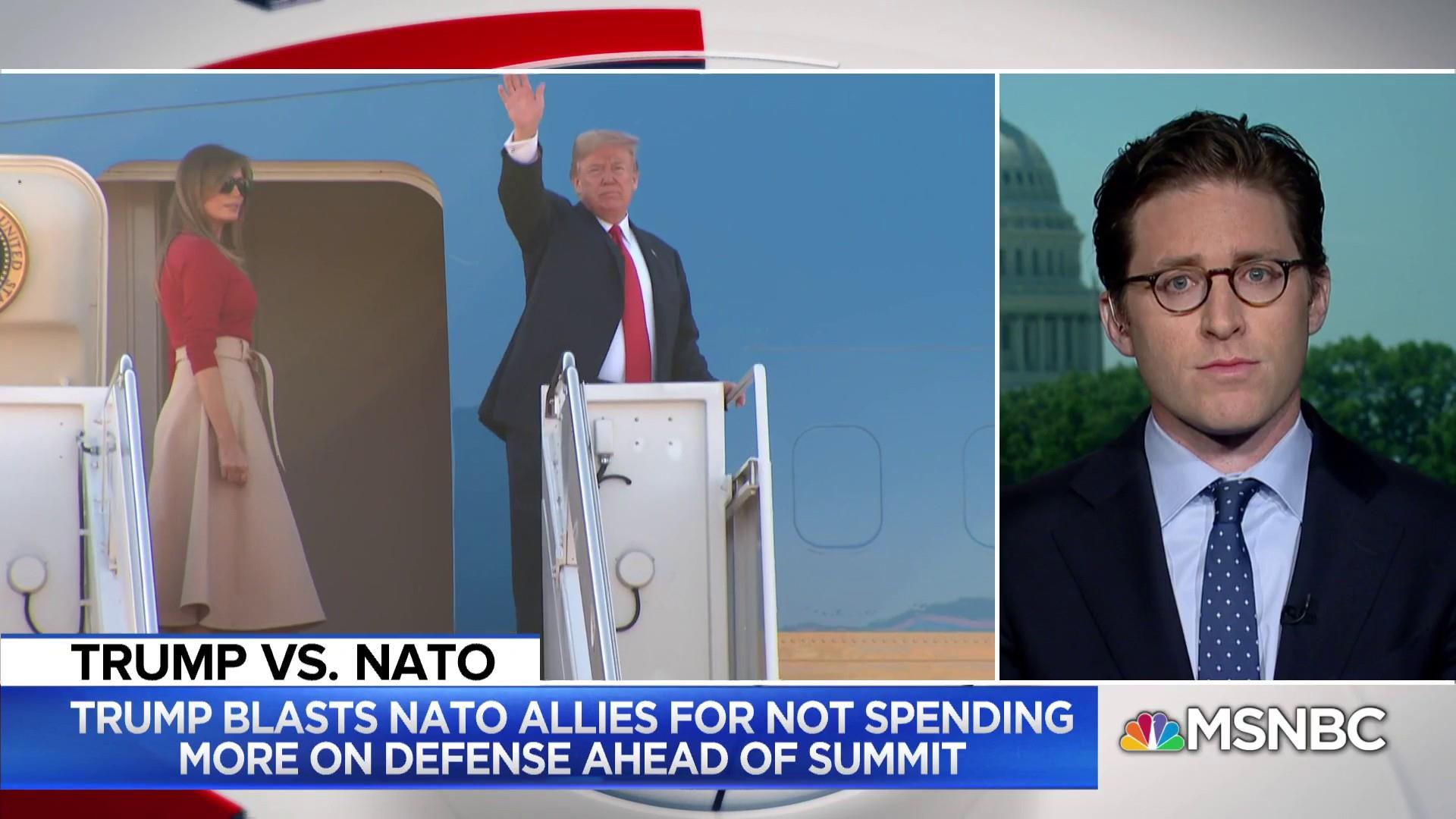 President Trump heads to NATO Summit after attacking allies