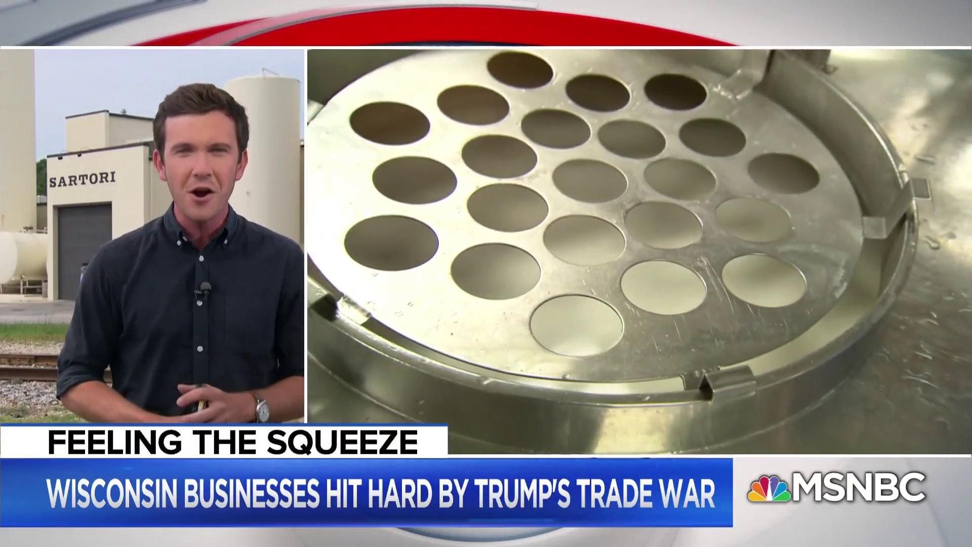 Wisconsin dairy farmers crippled by President Trump's tariffs
