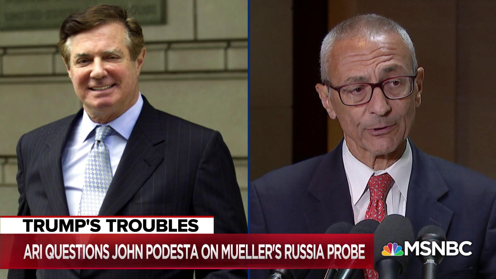 John Podesta: 'Rather be in this seat' than Paul Manafort's